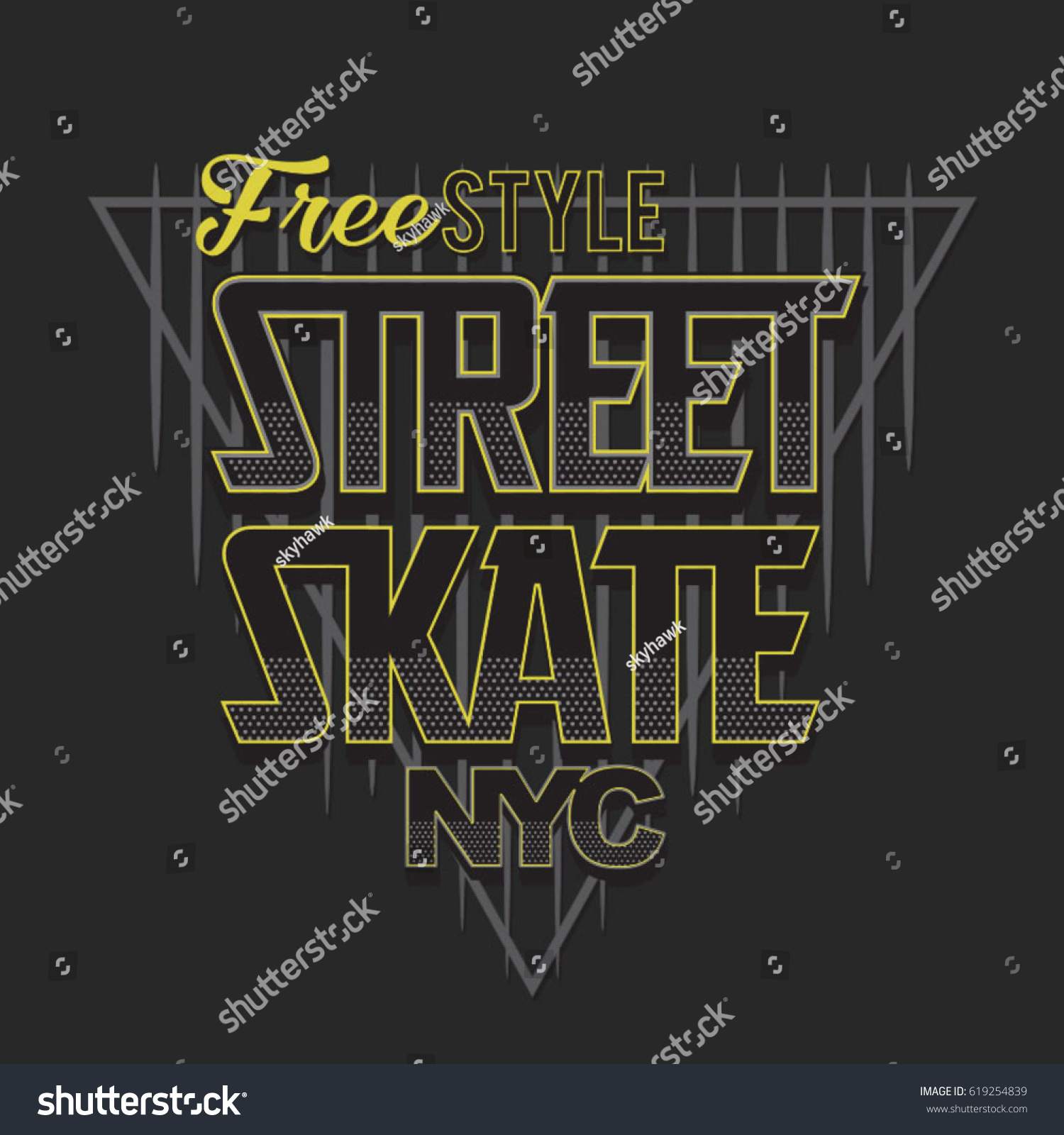 80e887af3 Skate Sport Typography Tee Shirt Graphics Stock Vector (Royalty Free ...