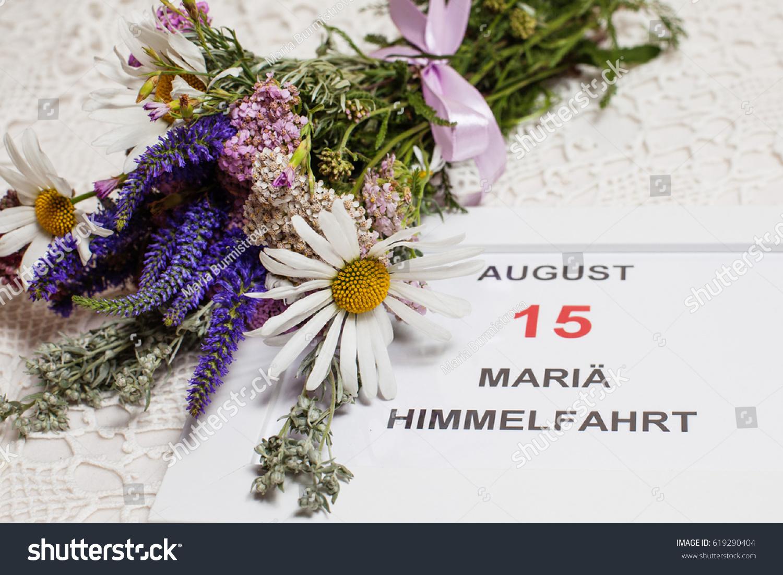 Assumption mary greeting card calendar 15 stock photo 619290404 assumption of mary greeting card calendar 15 august kristyandbryce Images