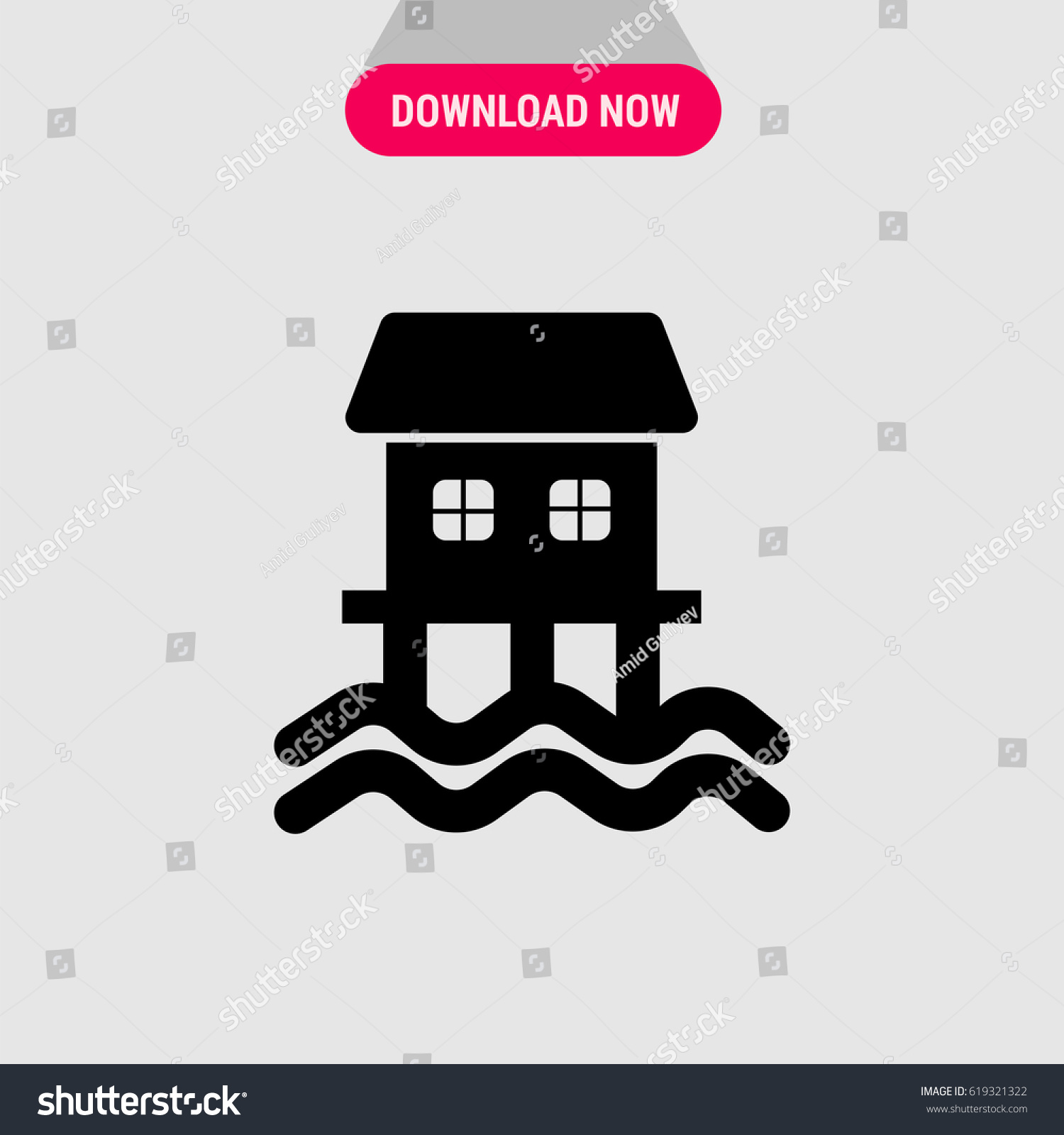 House on sea vector icon symbol stock vector 619321322 shutterstock house on the sea vector icon the symbol of cousy house with sea view biocorpaavc Choice Image