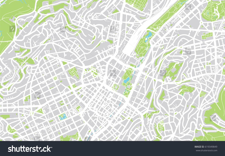 Urban City Map Stuttgart Germany Stock Illustration - Germany map stuttgart