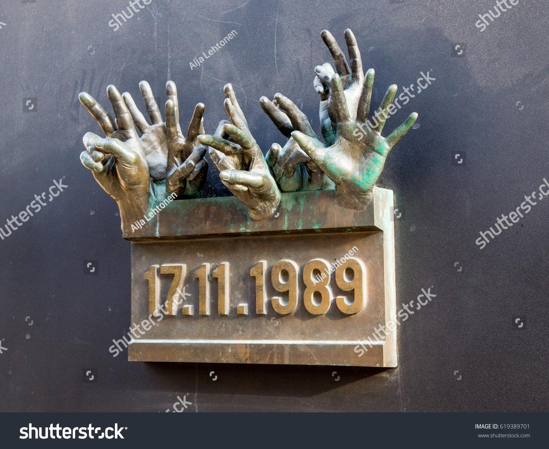 Prague Czech Republicapril 102017 Velvet Revolution Stock Photo