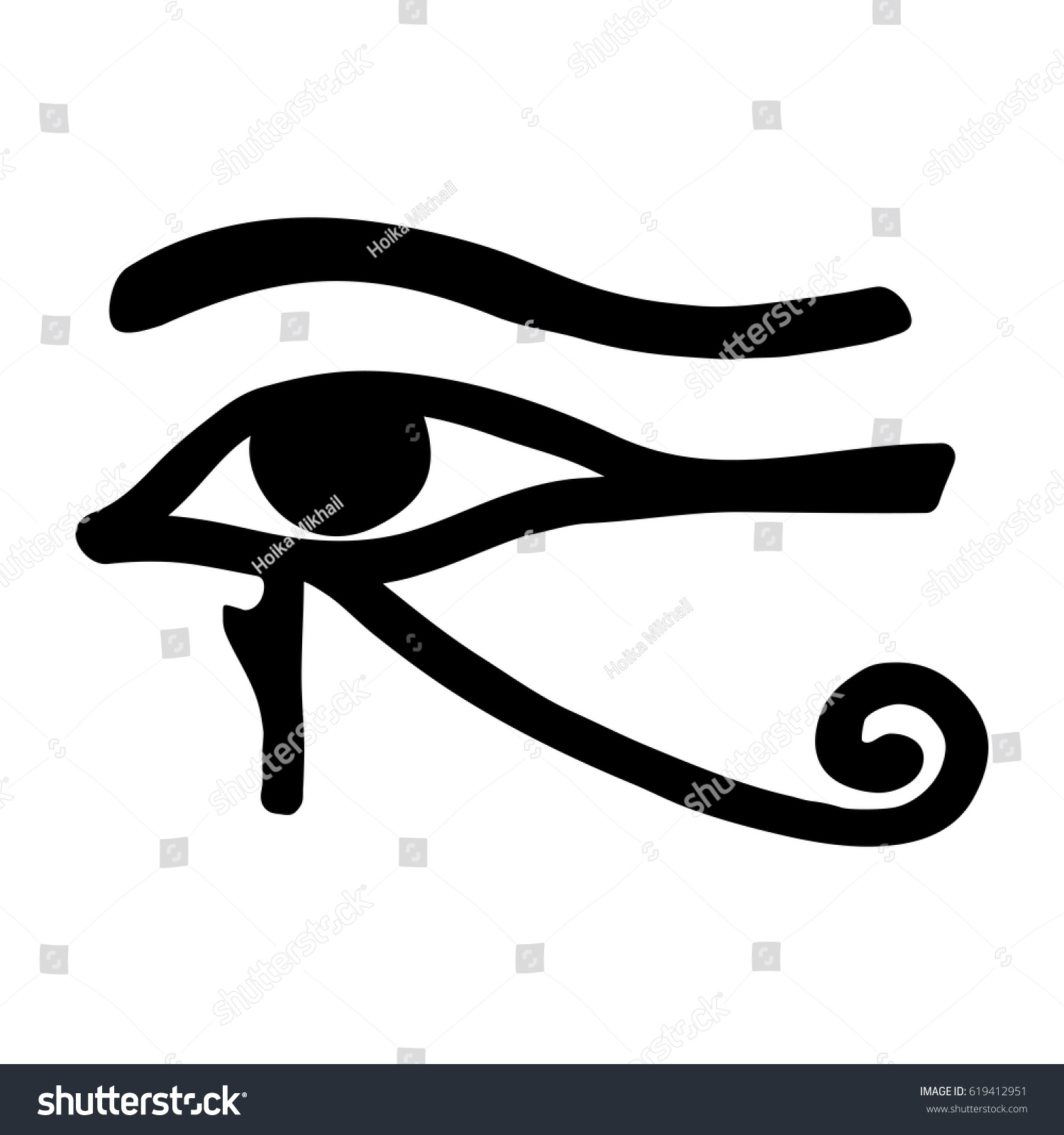 Royalty Free Egyptian Symbol Of The Eyes God Ra 619412951 Stock