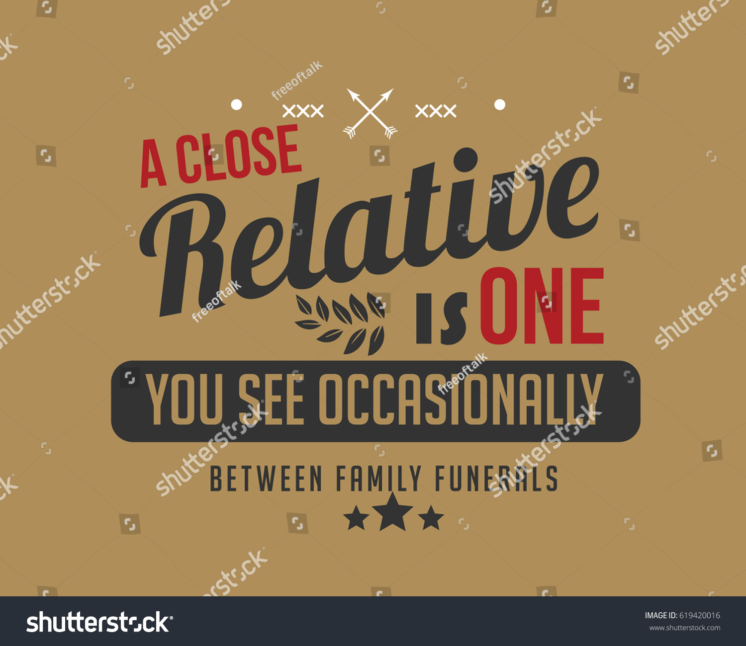 Quotes For Funerals Close Relative One You See Occasionally Stock Vector 619420016