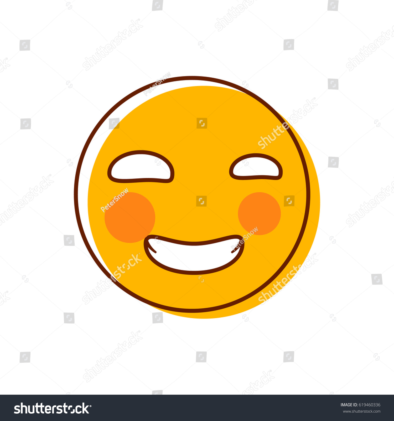 Disgusted emoticon vector emoji smiley ez canvas