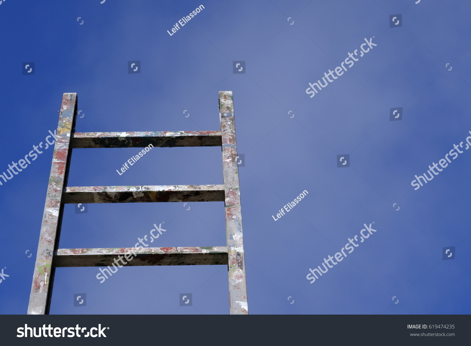 Stairway heaven ladder reaching blue sky stock photo 619474235 stairway to heaven ladder reaching the blue sky a symbol for everything is possible buycottarizona Image collections