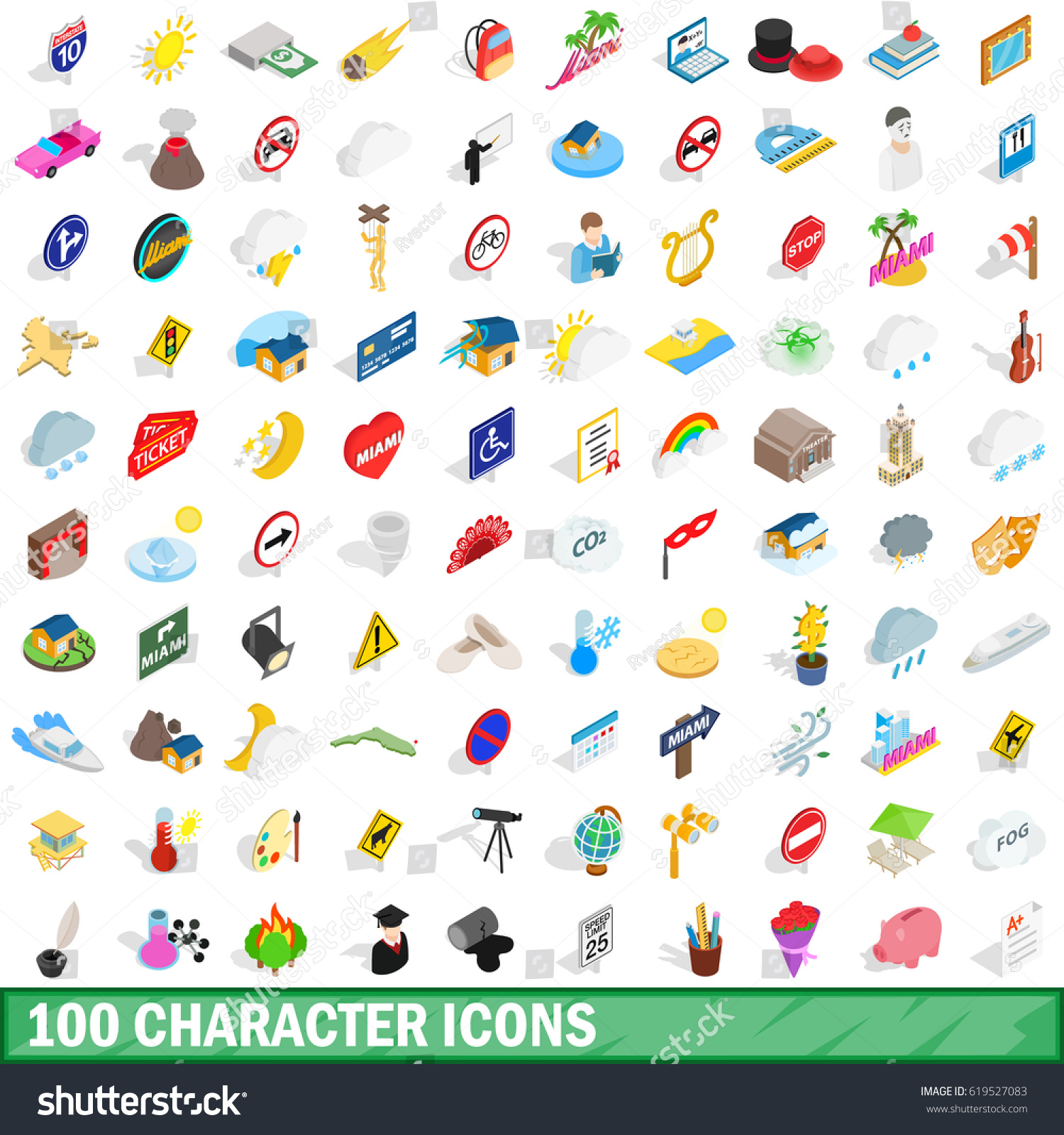 Character Design By 100 Illustrators Pdf : Character icons set isometric d stock vector