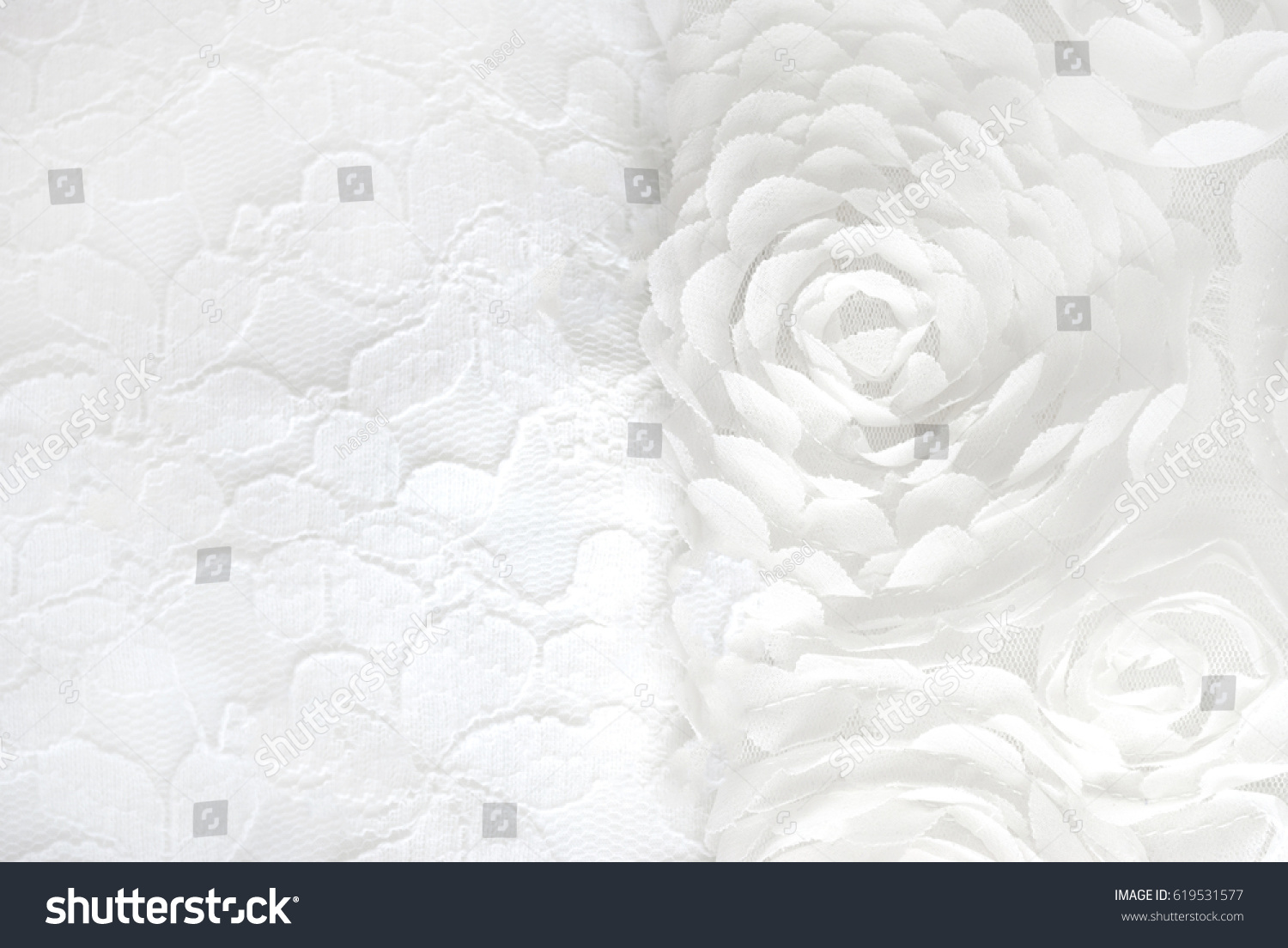 White Lace With Flowers Ez Canvas