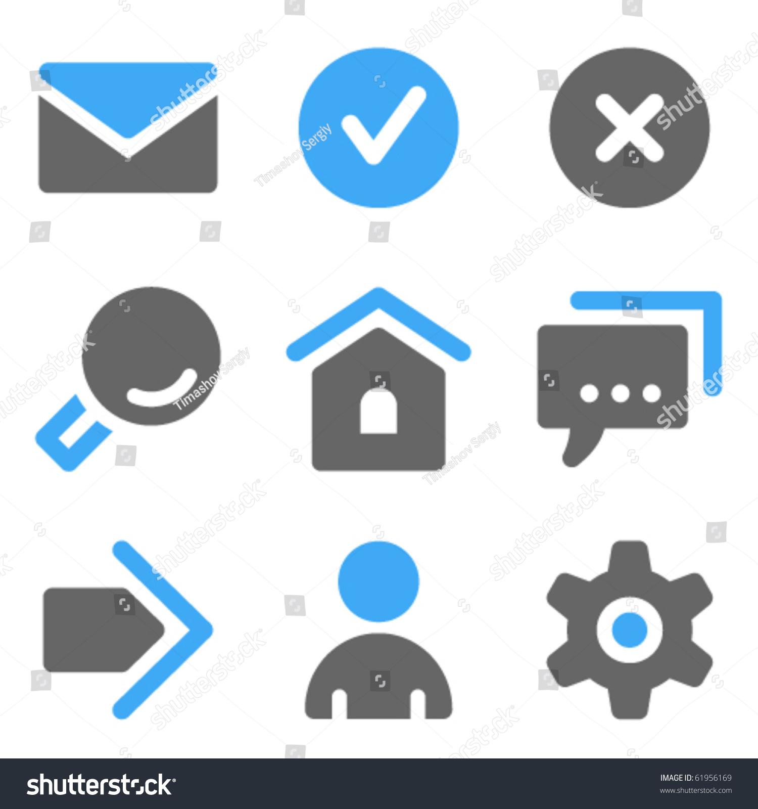 Basic Web Icons  Blue ...
