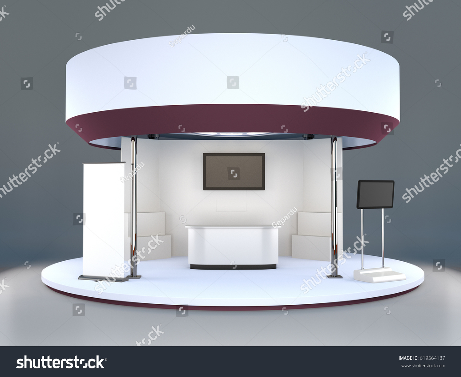 Exhibition Stand Circle : Fair trade exhibition stand d rendering stock illustration