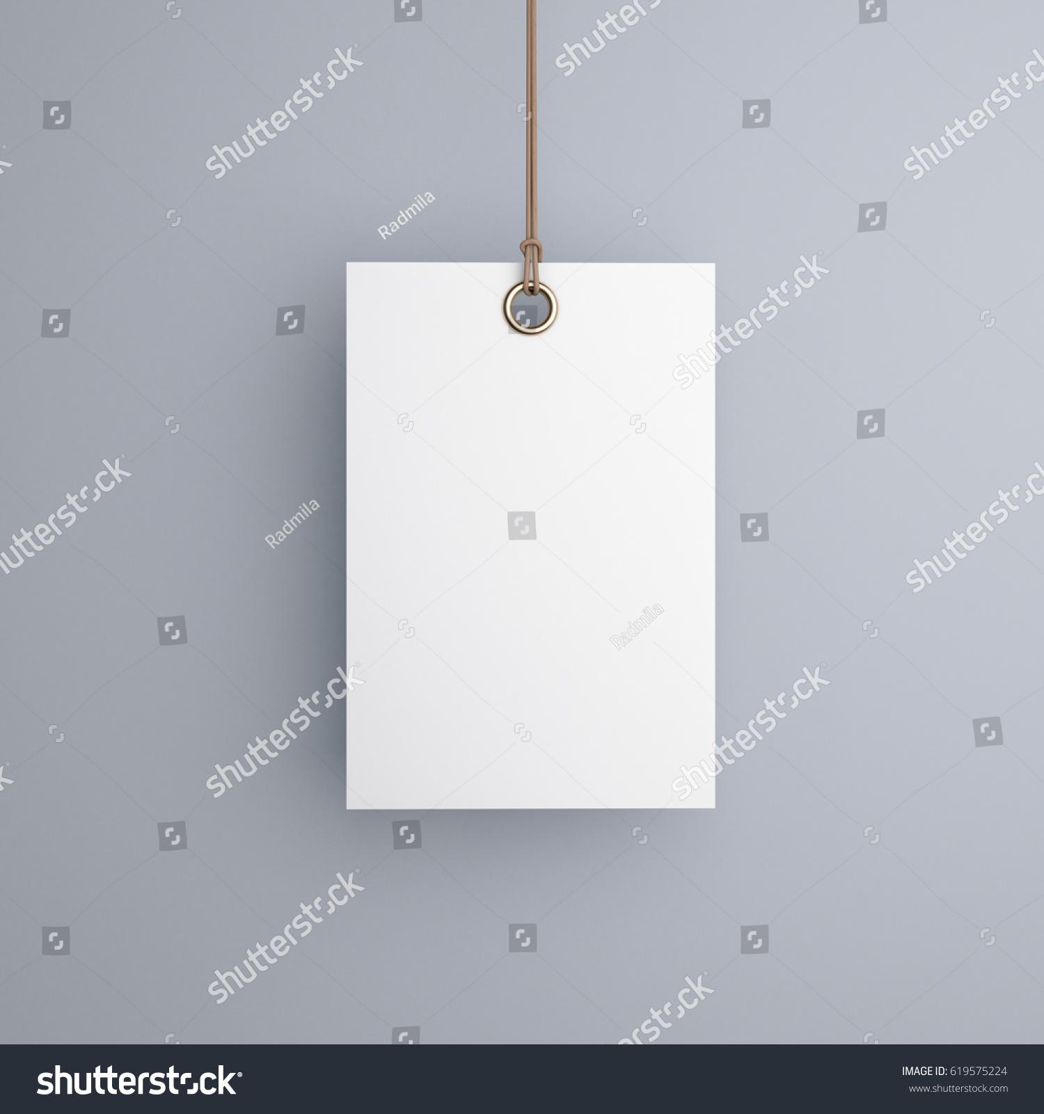 Label Blank Mockup 3 D Rendering Stock Illustration - Royalty Free ...