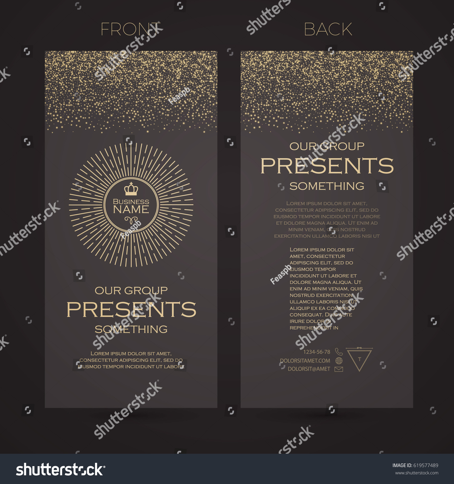 Elegant Flyer Template Cover Booklet Greeting Stock Vector Royalty