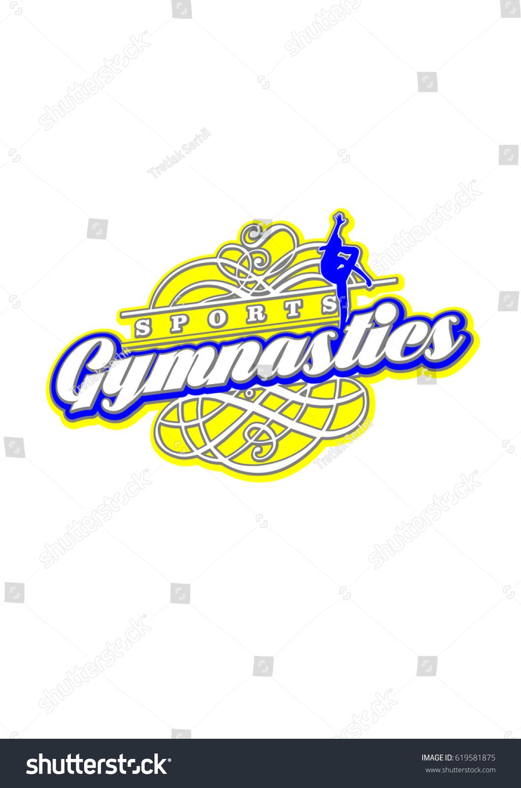 Sports Po Templates | Gymnastics Logo Design Vector Template Sport Stock Vector Royalty