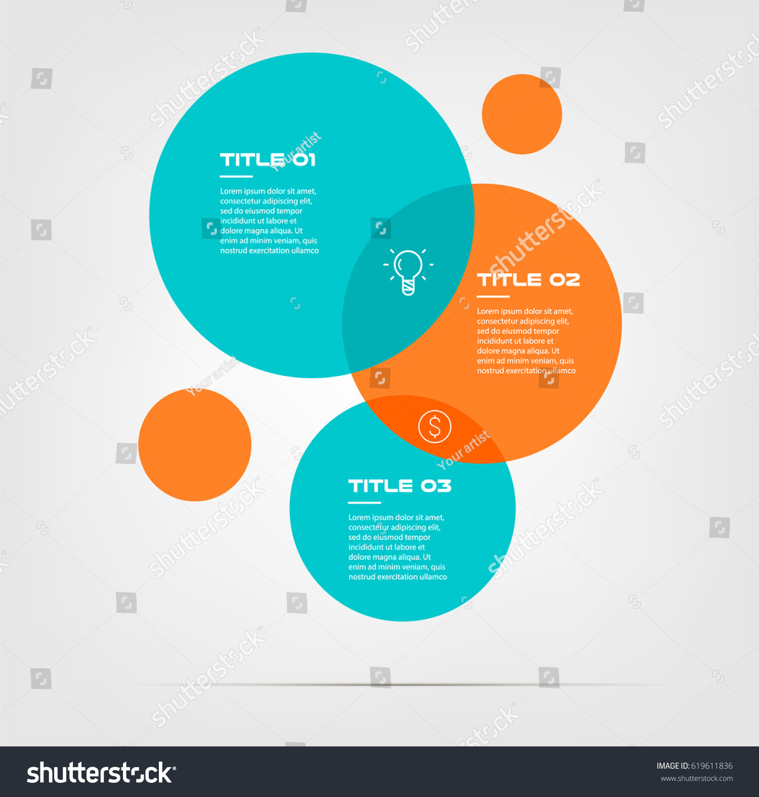 Bubble chart elements venn diagram infographics stock vector bubble chart with elements venn diagram infographics for three circle design vector and marketing can be pooptronica Gallery