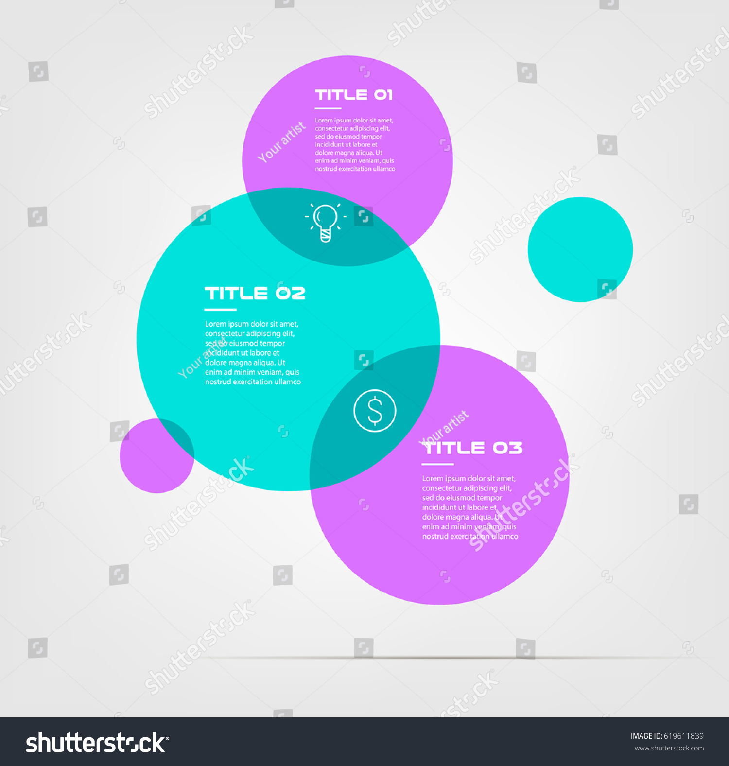Bubble chart elements venn diagram infographics stock vector bubble chart with elements venn diagram infographics for three circle design vector and marketing can be pooptronica Image collections