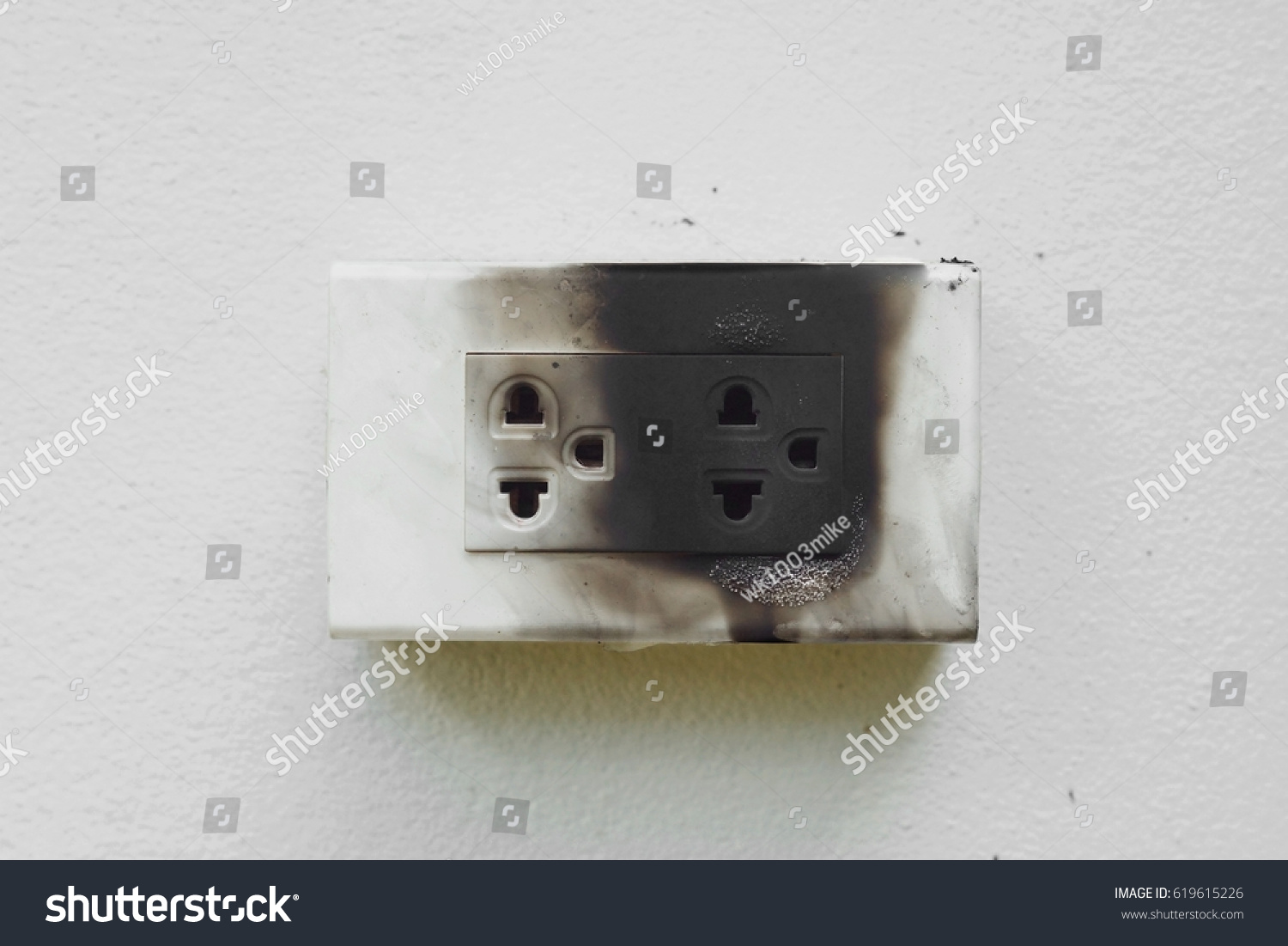 Electricity Short Circuit Electrical Failure Resulting Stock Photo ...