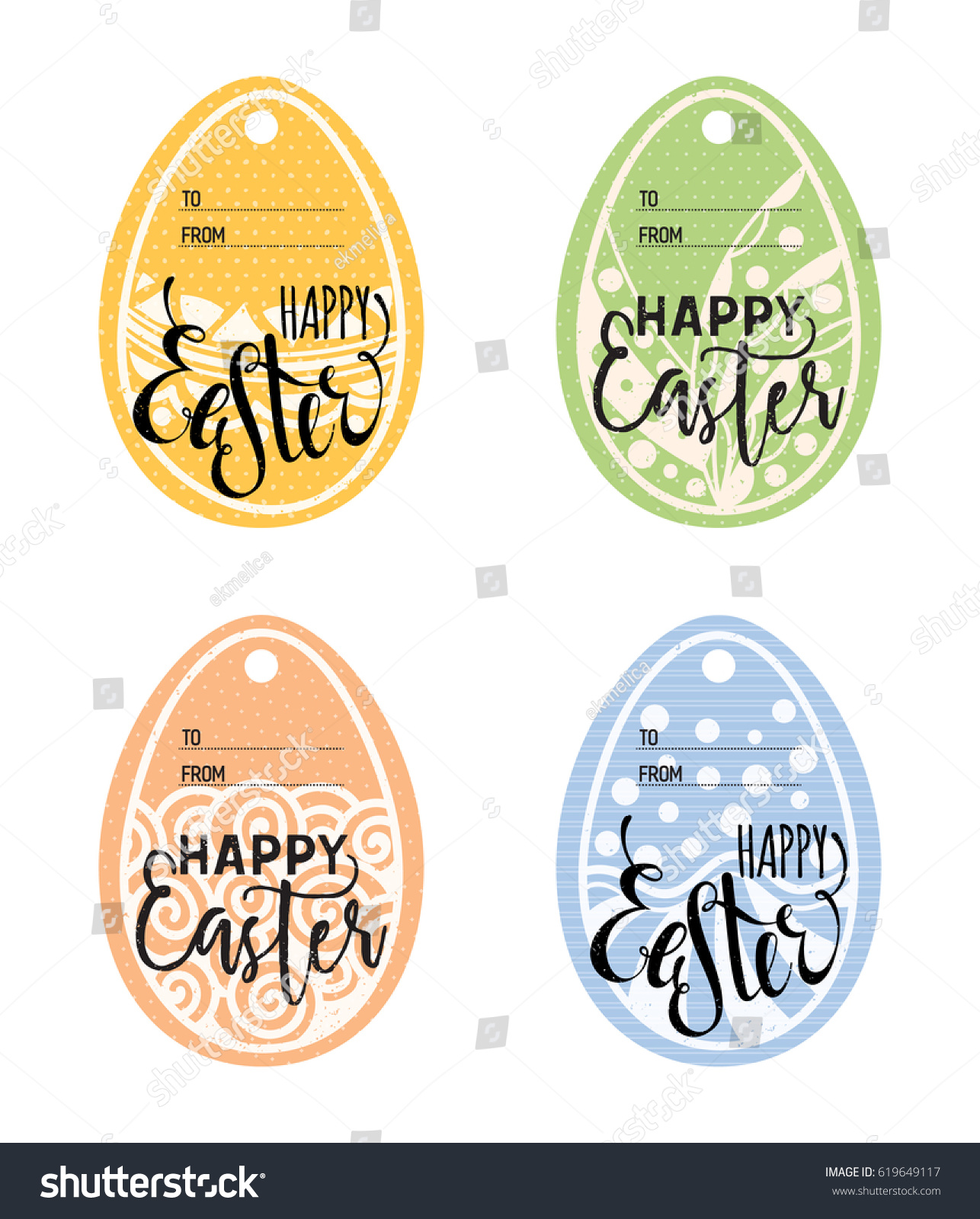 Set vintage easter gift tags happy stock vector 619649117 shutterstock set of vintage easter gift tags happy easter lettering caption zentangle holiday design for negle Choice Image