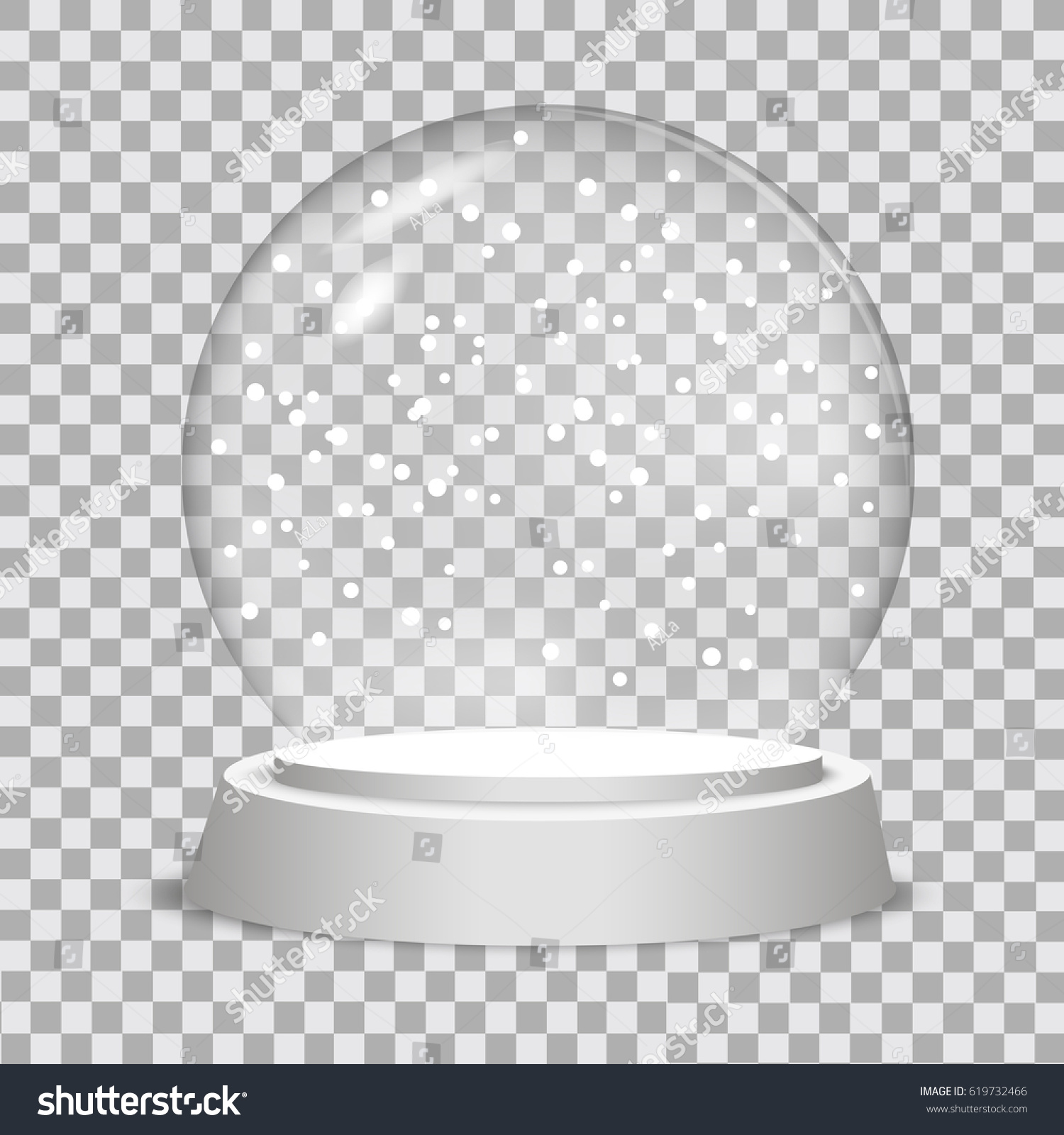Christmas Snow Globe On Transparent Background Stock Vector (Royalty ...