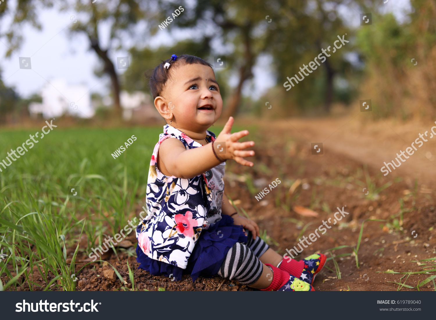 cute indian baby girl stock photo (edit now) 619789040 - shutterstock