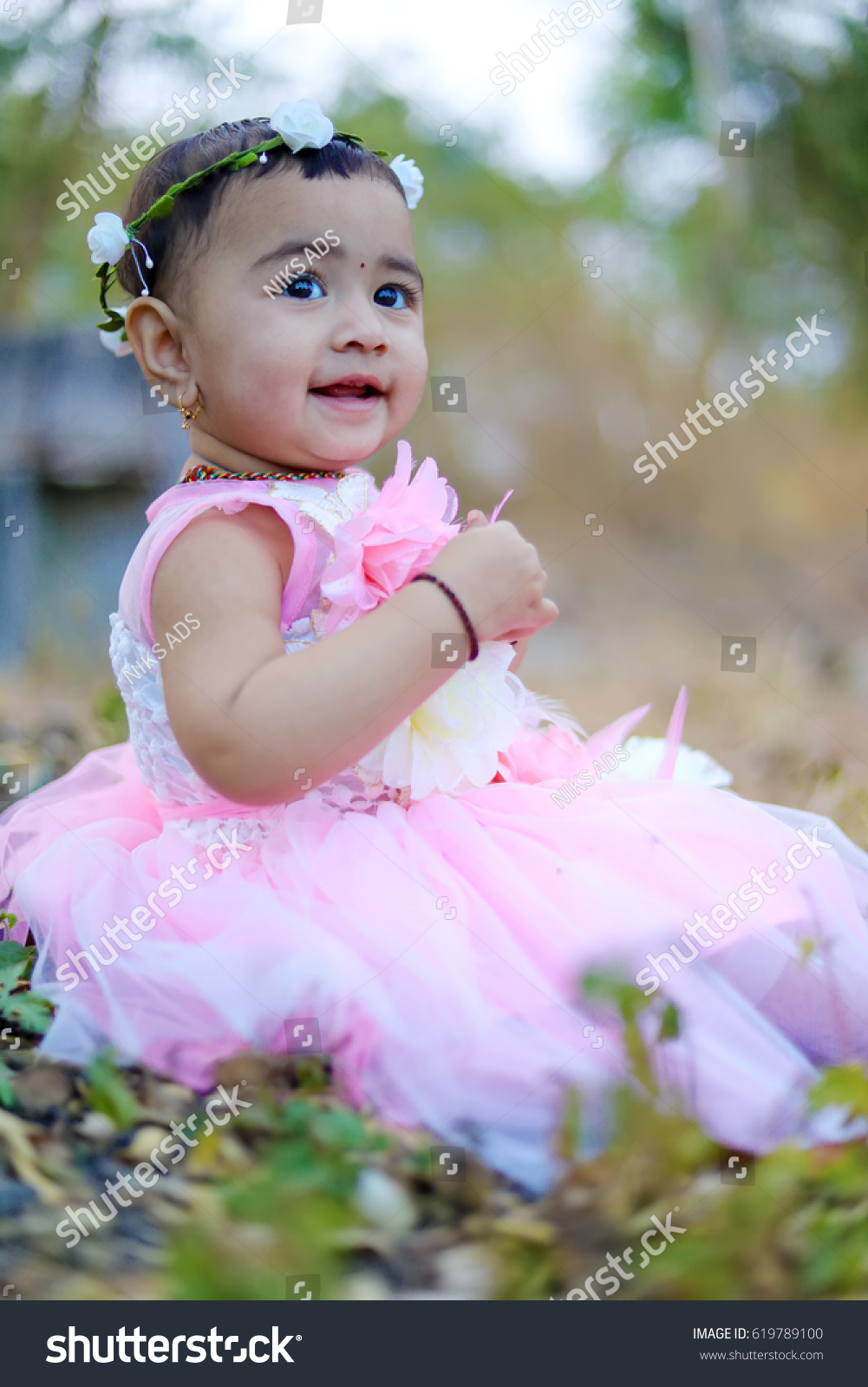 cute indian baby girl stock photo (edit now) 619789100 - shutterstock