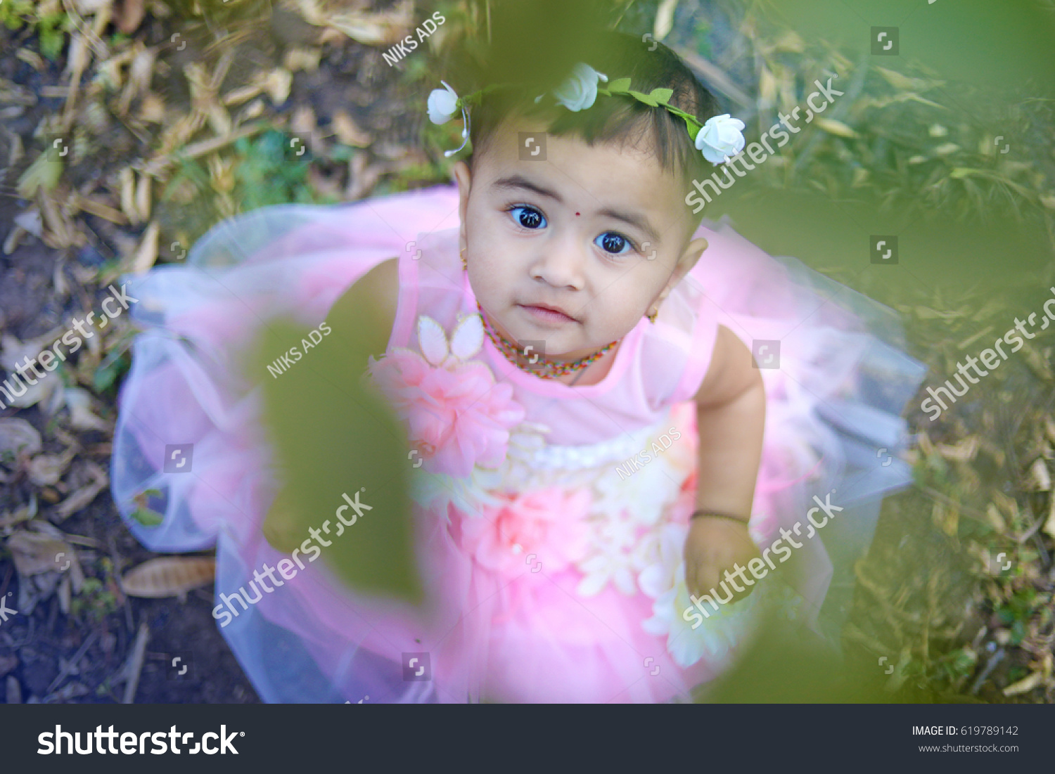 cute indian baby girl stock photo (edit now) 619789142 - shutterstock