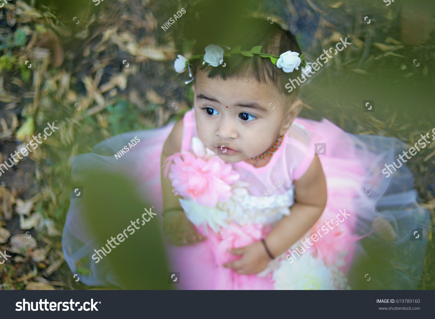 cute indian baby girl stock photo (edit now) 619789160 - shutterstock