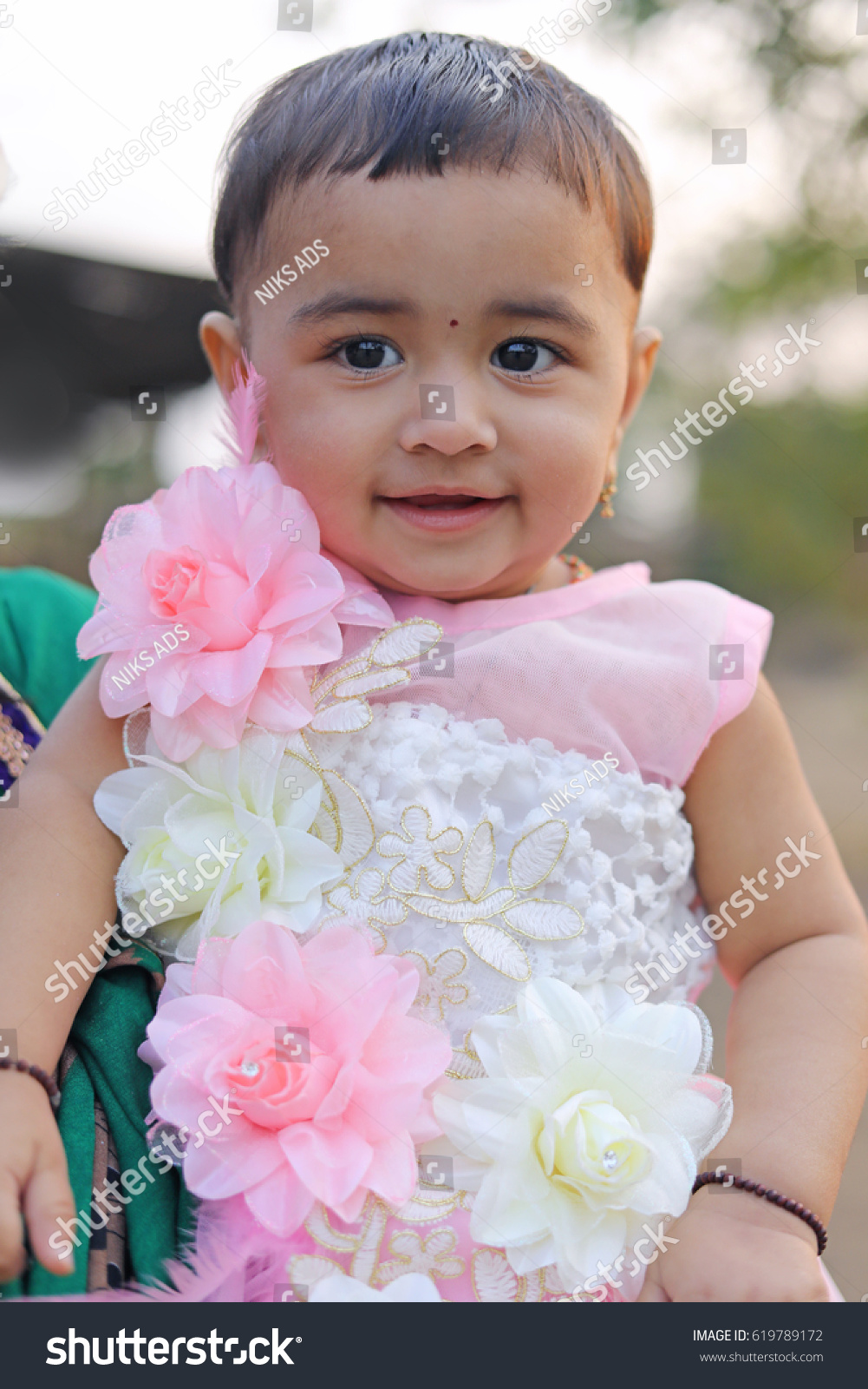 cute indian baby girl stock photo (edit now) 619789172 - shutterstock