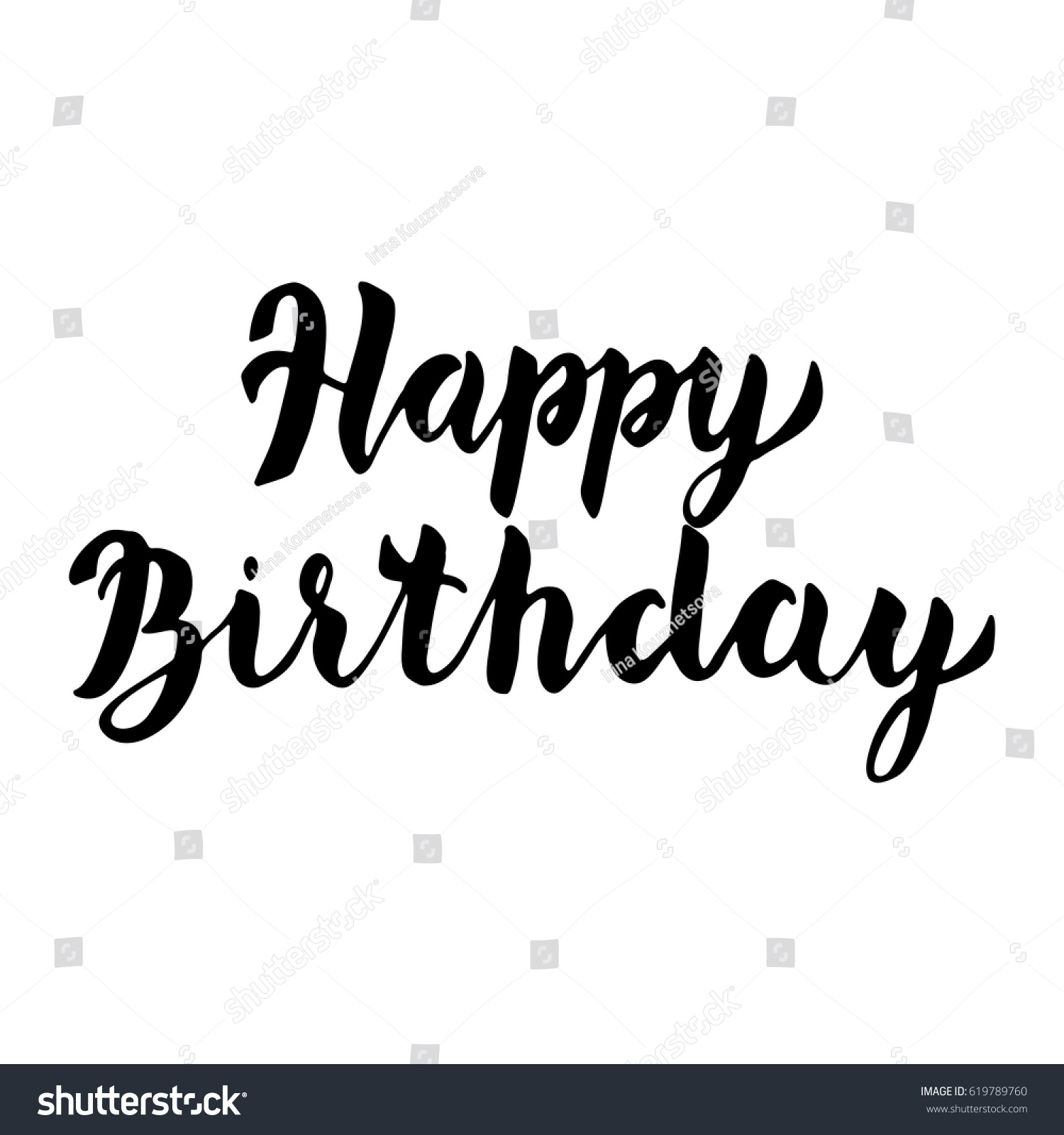 Happy birthday greeting card template modern stock vector