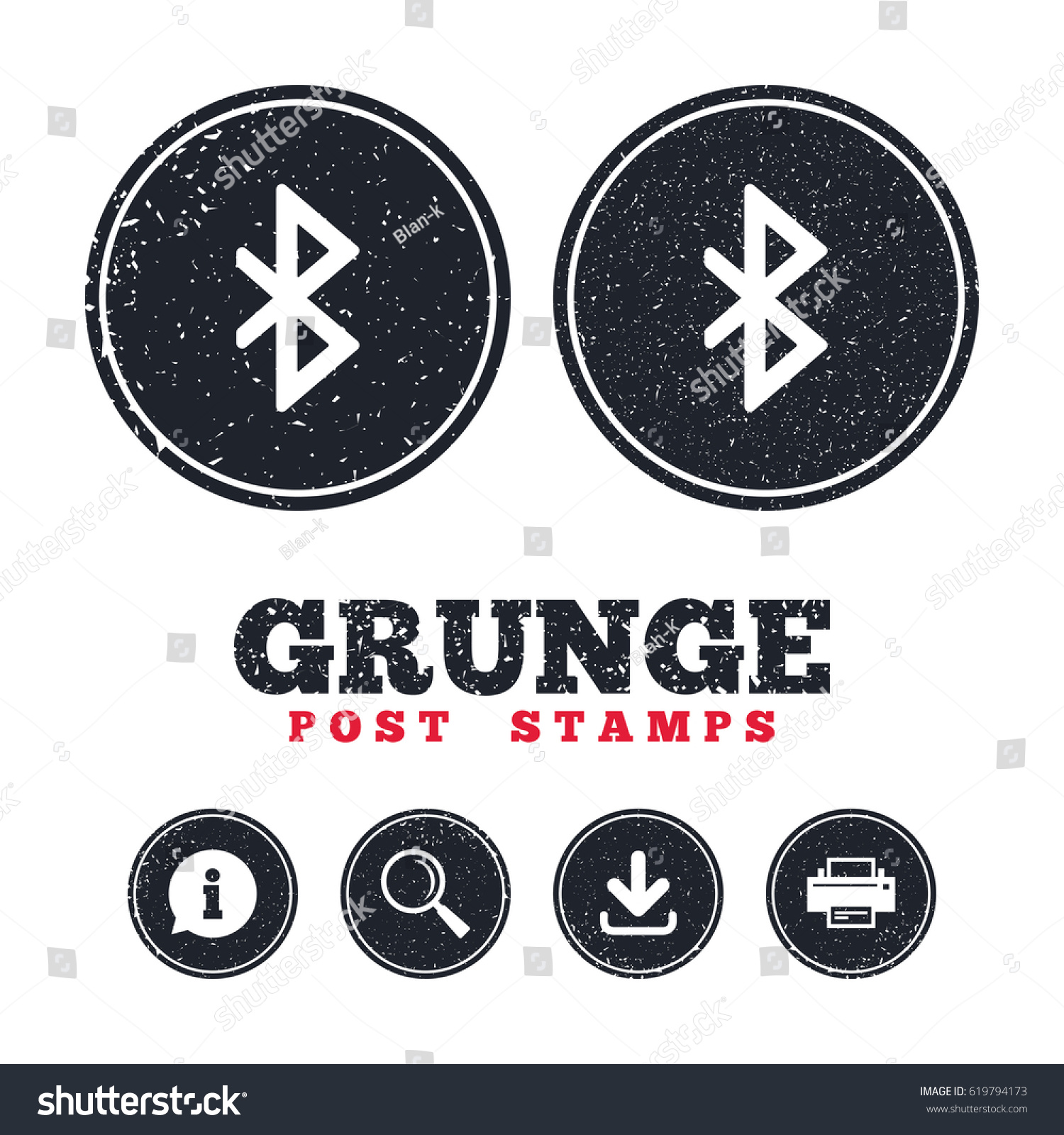 Grunge post stamps bluetooth sign icon stock vector 619794173 grunge post stamps bluetooth sign icon mobile network symbol data transfer information biocorpaavc