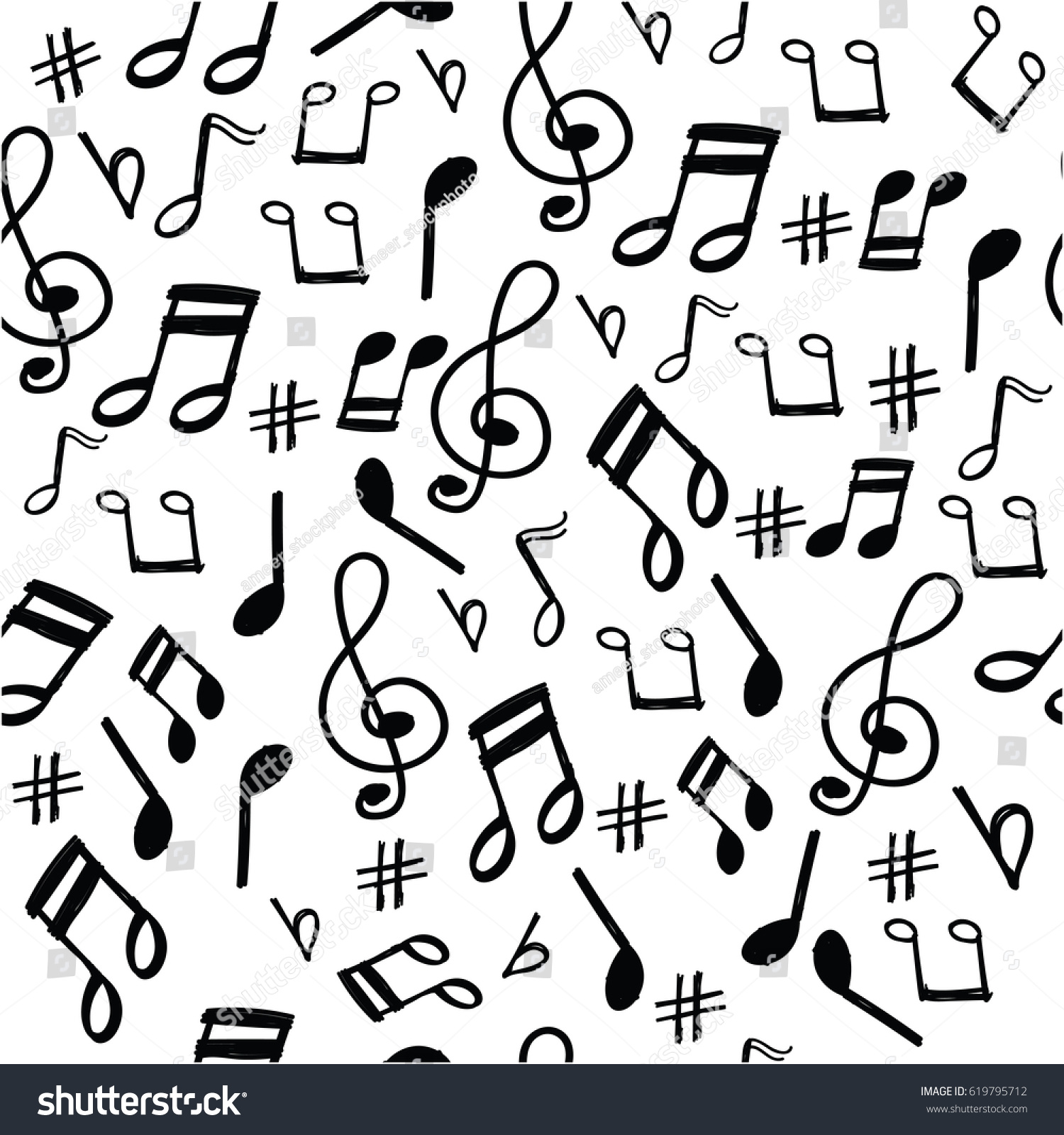 Music Note Pattern Cool Decoration