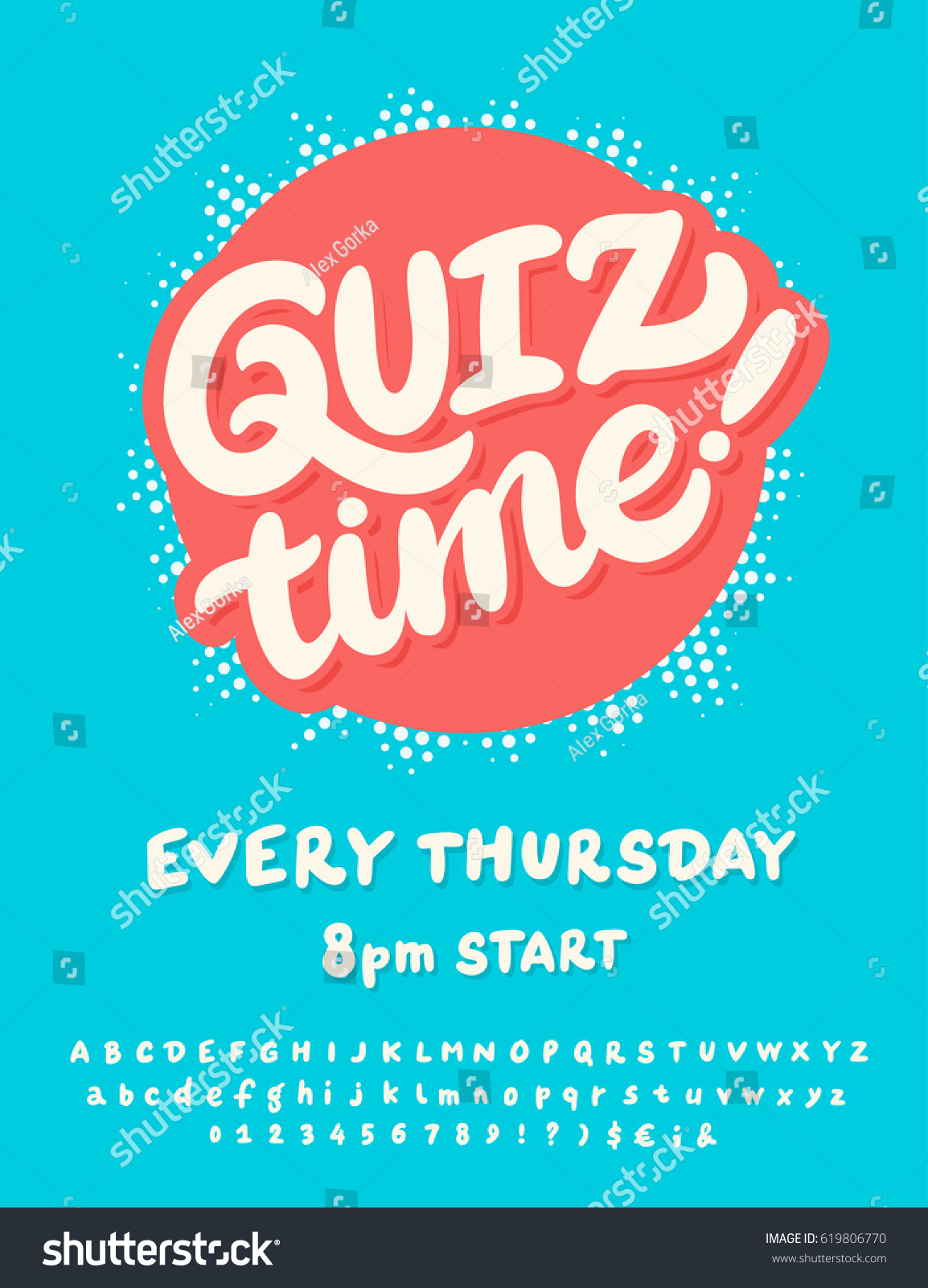 Quiz time poster template stock vector hd royalty free 619806770 quiz time poster template stopboris Image collections
