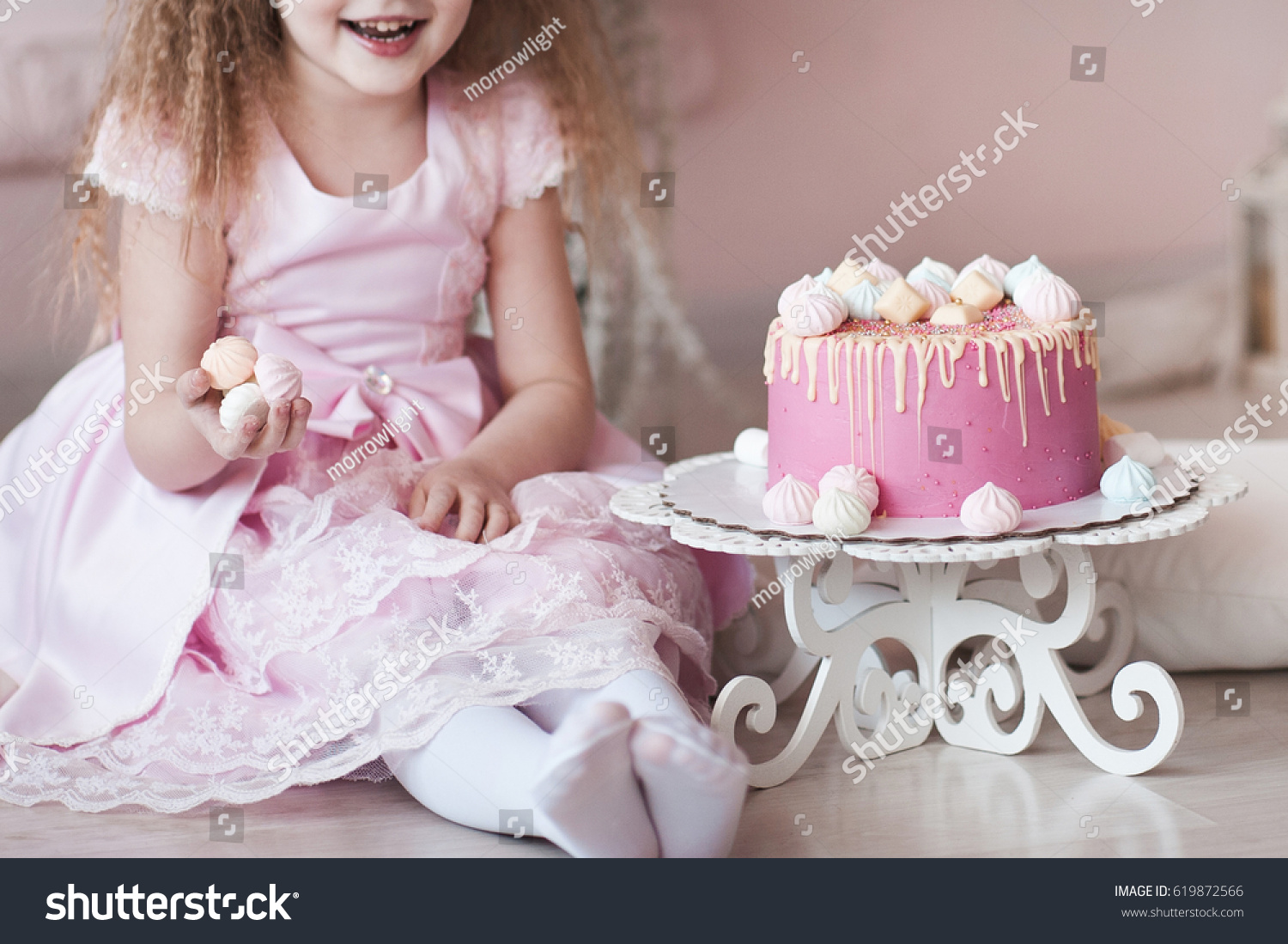 Amazing Kid Girl 45 Year Old Eating Stock Photo Edit Now 619872566 Funny Birthday Cards Online Fluifree Goldxyz