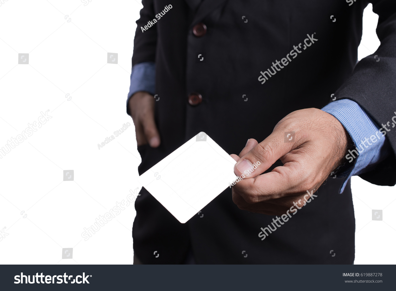 Businessman Showing Business Card You Can Stock Photo (Royalty Free ...