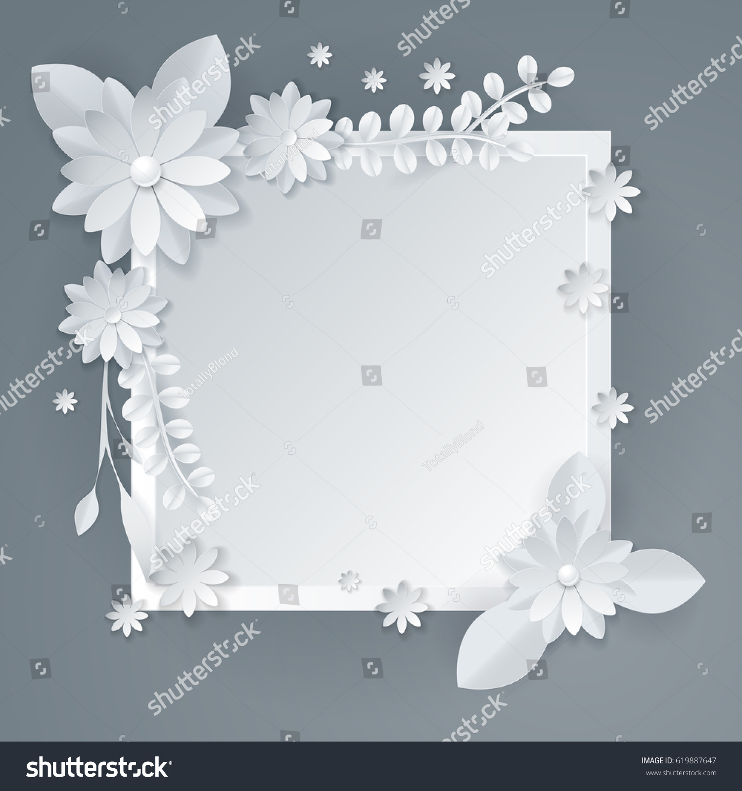 3d white paper craft flowers background stock vector 619887647 3d white paper craft flowers background spring wedding decoration summer bridal bouquet greeting jeuxipadfo Choice Image