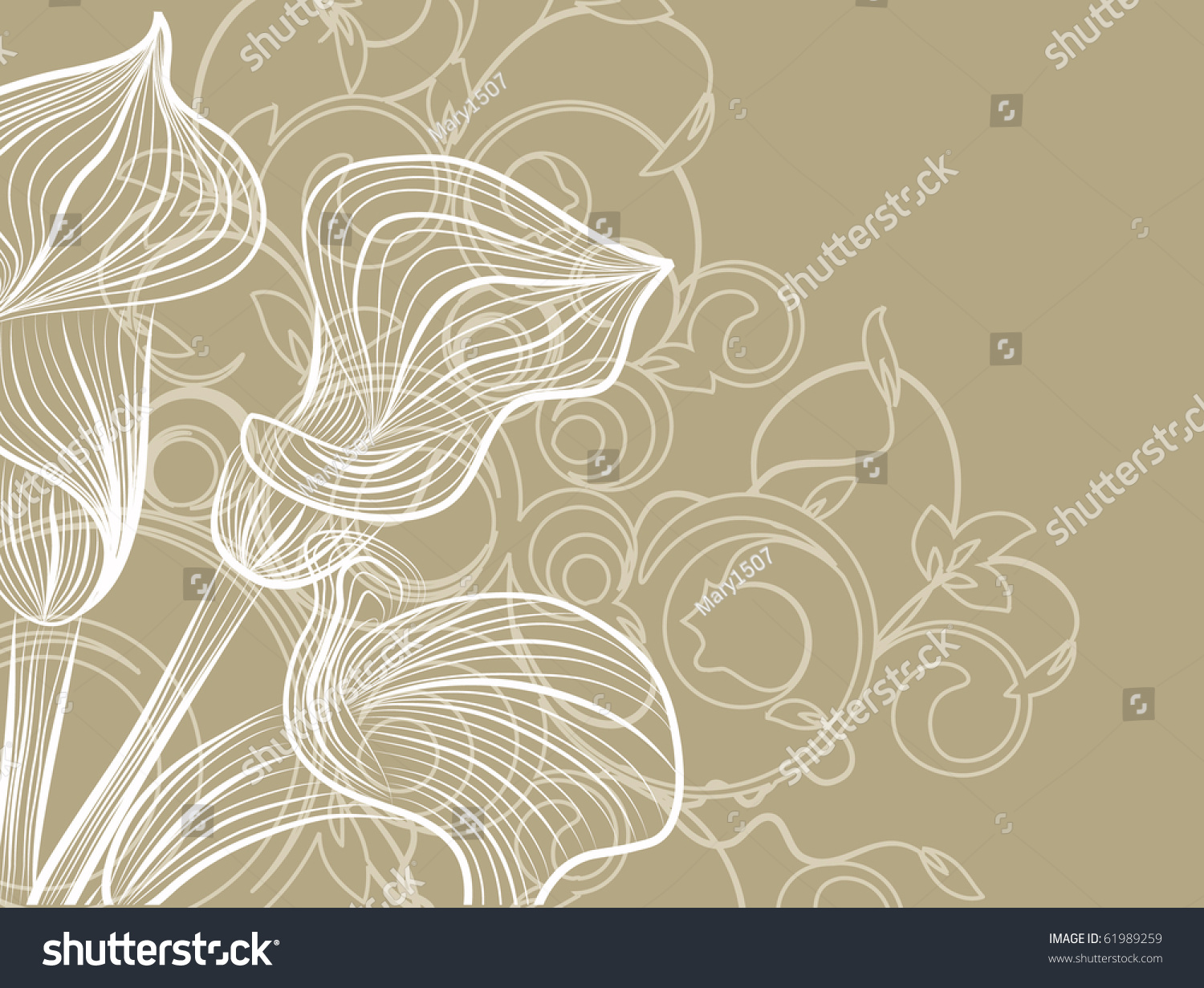 Visiting Card Decoratively Abstraction Banner Design Stock