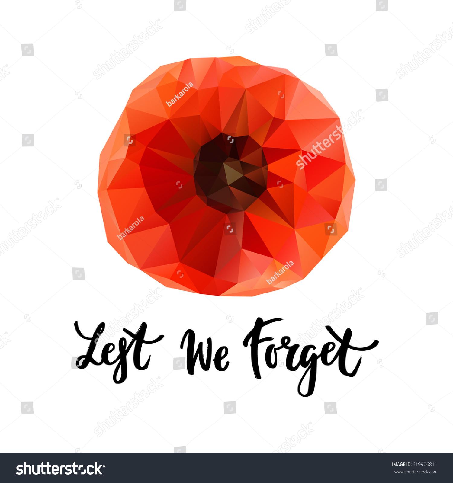 vector illustration geometrical bright poppy flower stock vector