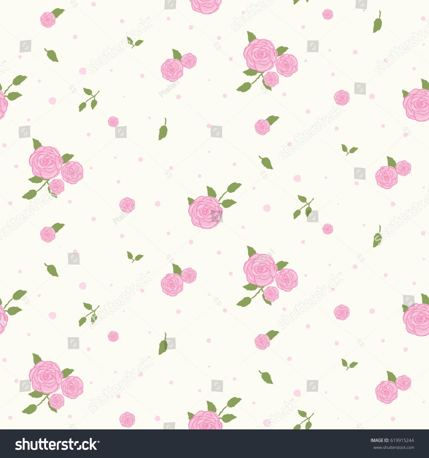 Wallpaper seamless vintage pink flower pattern stock vector royalty wallpaper seamless vintage pink flower pattern mightylinksfo