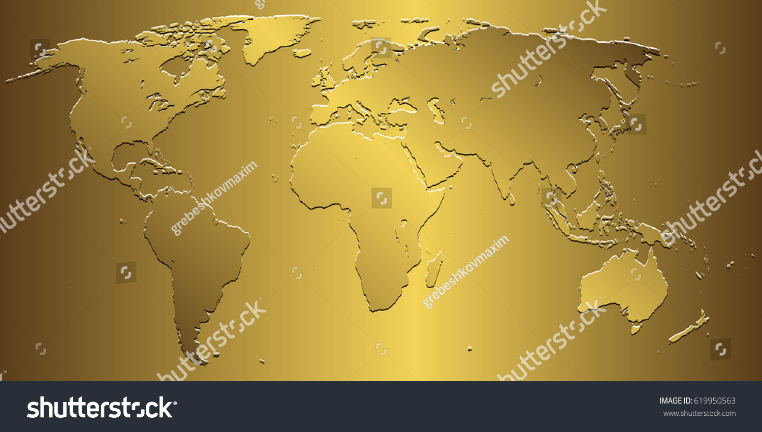Golden world map on gold background stock photo photo vector golden world map on gold background gumiabroncs Image collections
