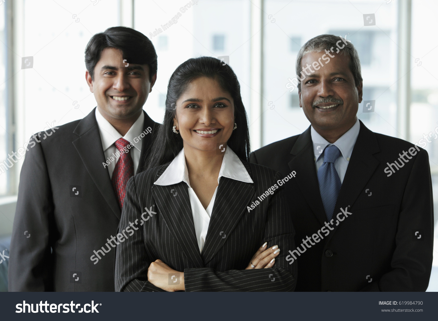Group Of Professional Multicultural Business Executives In Office
