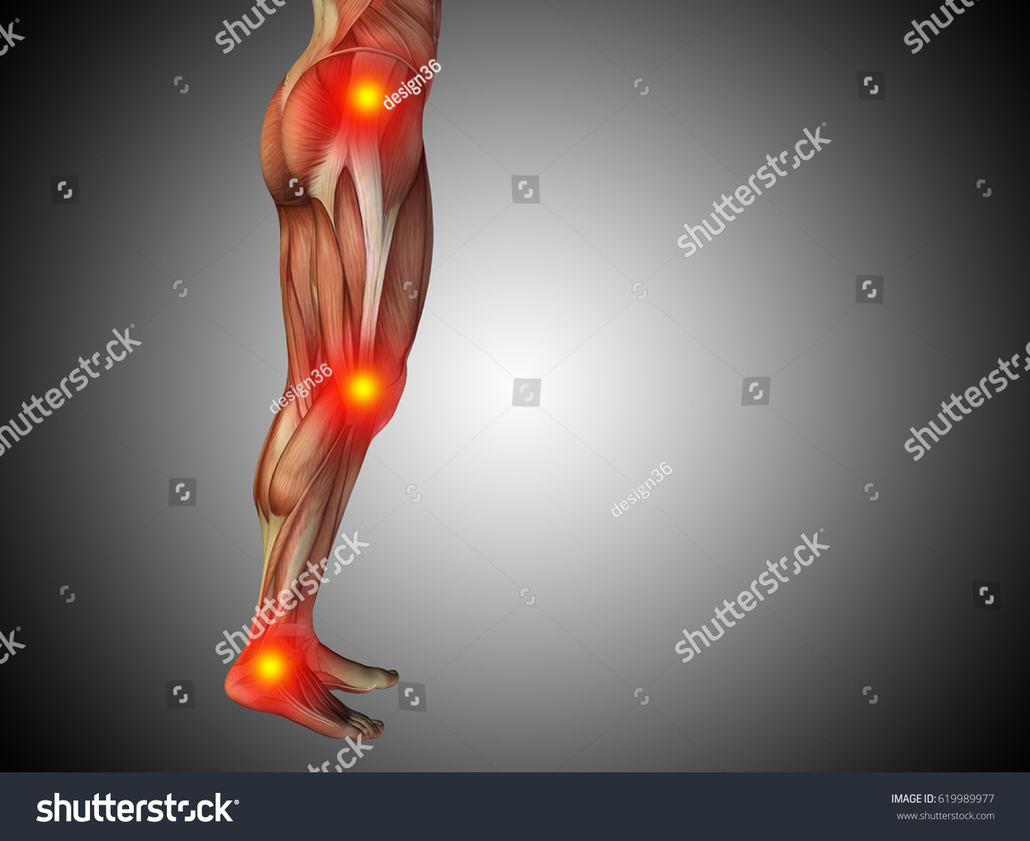 Conceptual 3d Illustration Of Human Man Anatomy Lower Body Or Health