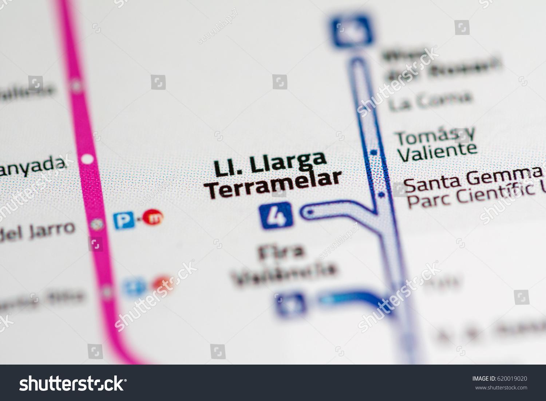 Ll Llarga Terramelar Station Valencia Metro Stock Photo 620019020