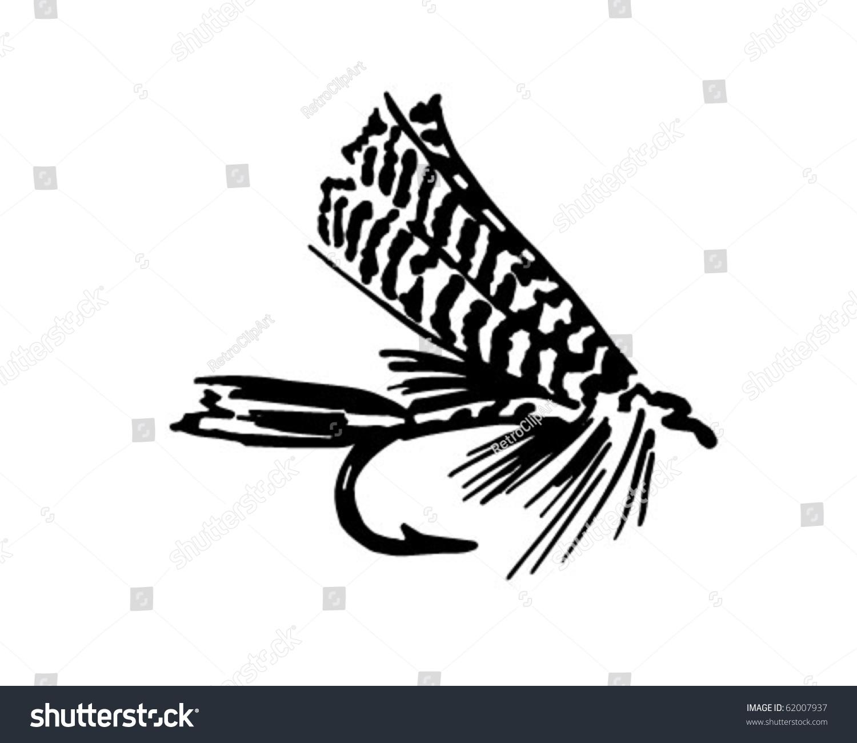 Fishing Fly 6 - Retro Clipart Stock Vector Illustration 62007937 ...