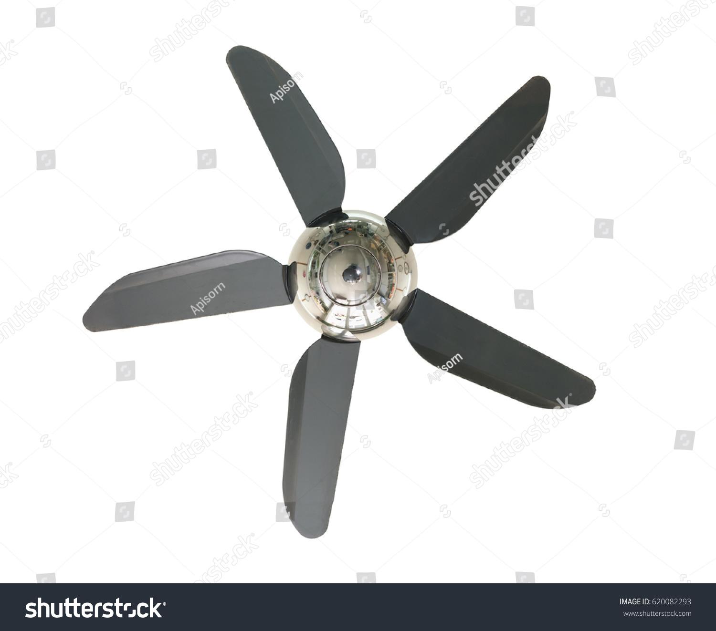 Propeller Ceiling Fan Isolated White Stock