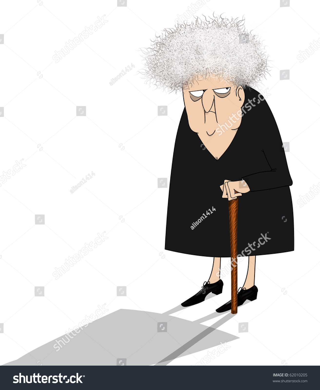 Funny looking old woman