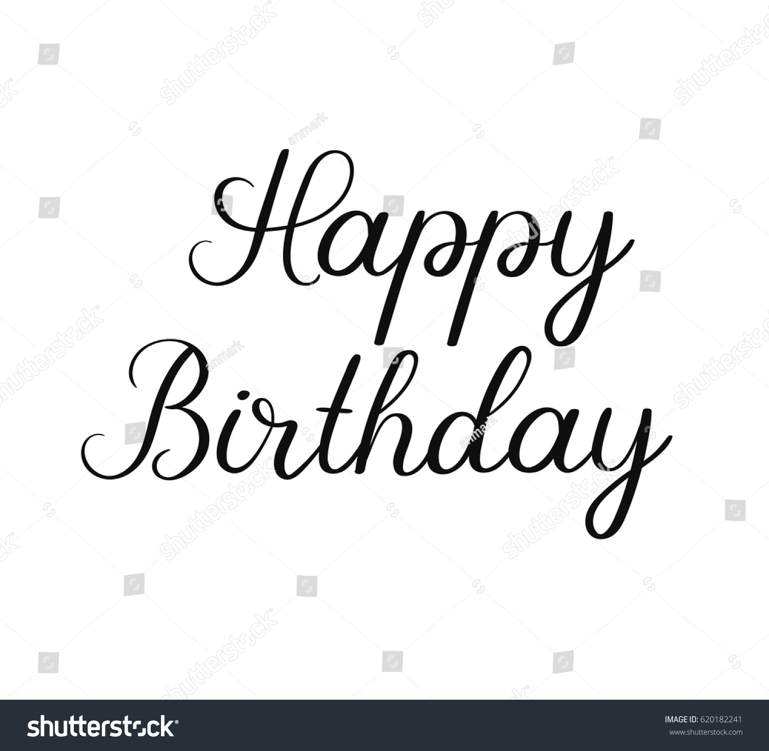 Happy Birthday Classic Calligraphy Inscription Handwritten – Text for Birthday Card