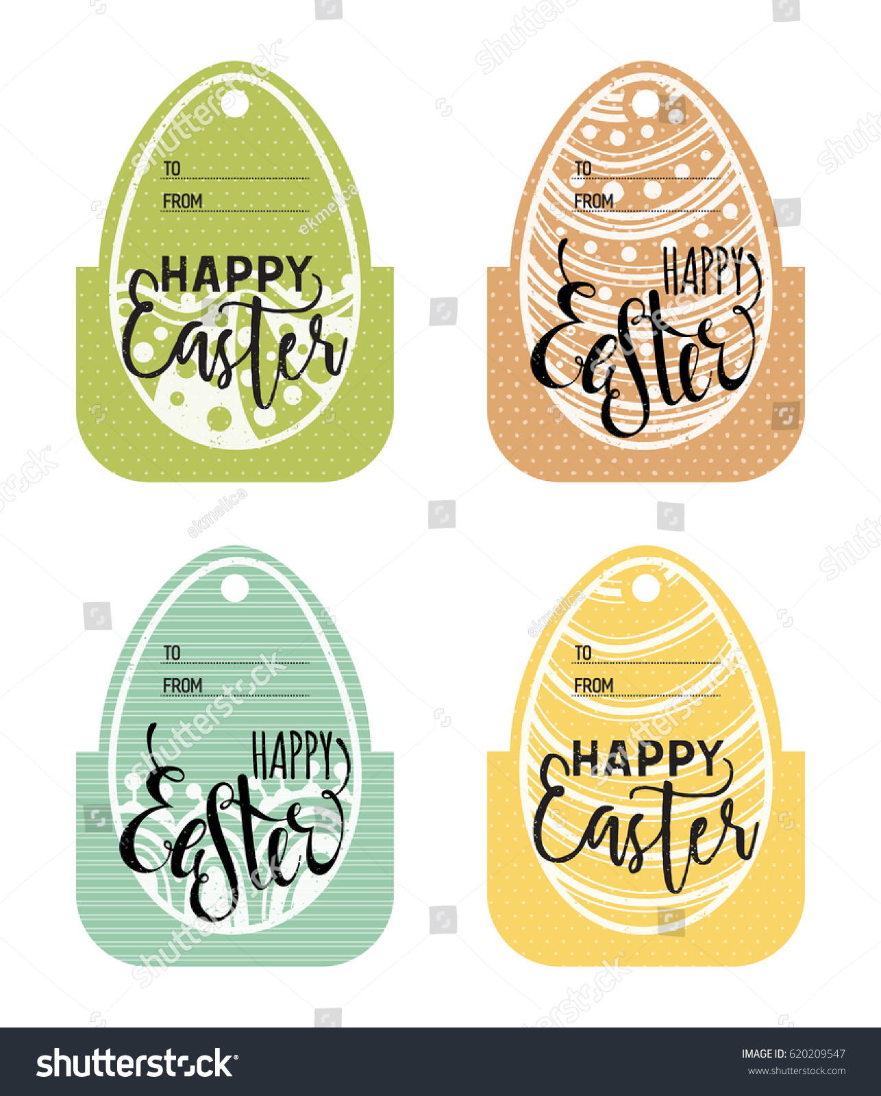 Set vintage easter gift tags happy stock vector 620209547 shutterstock negle Choice Image