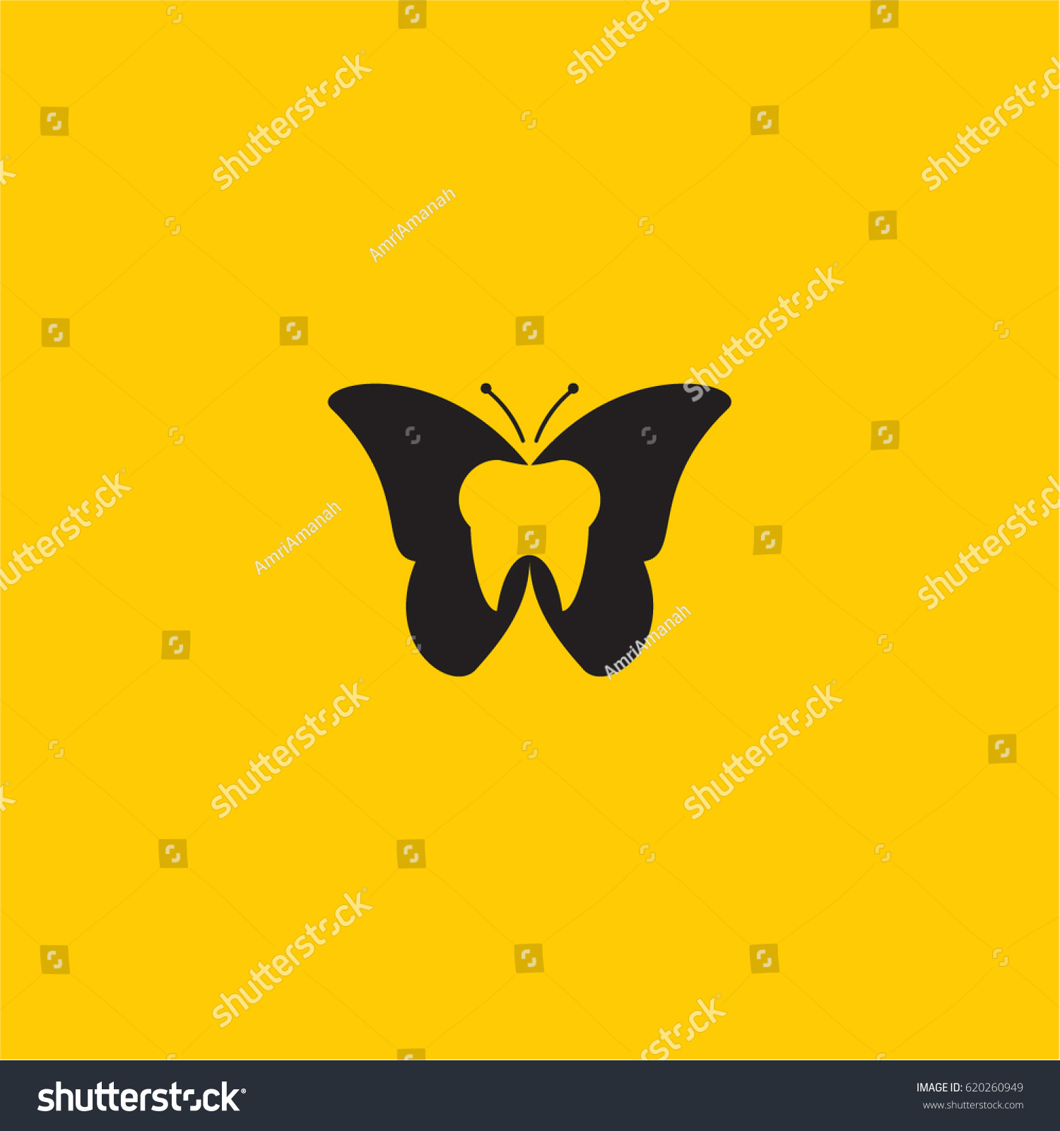 Dental dentist butterfly logo symbol stock vector 620260949 dental dentist butterfly logo symbol biocorpaavc Images