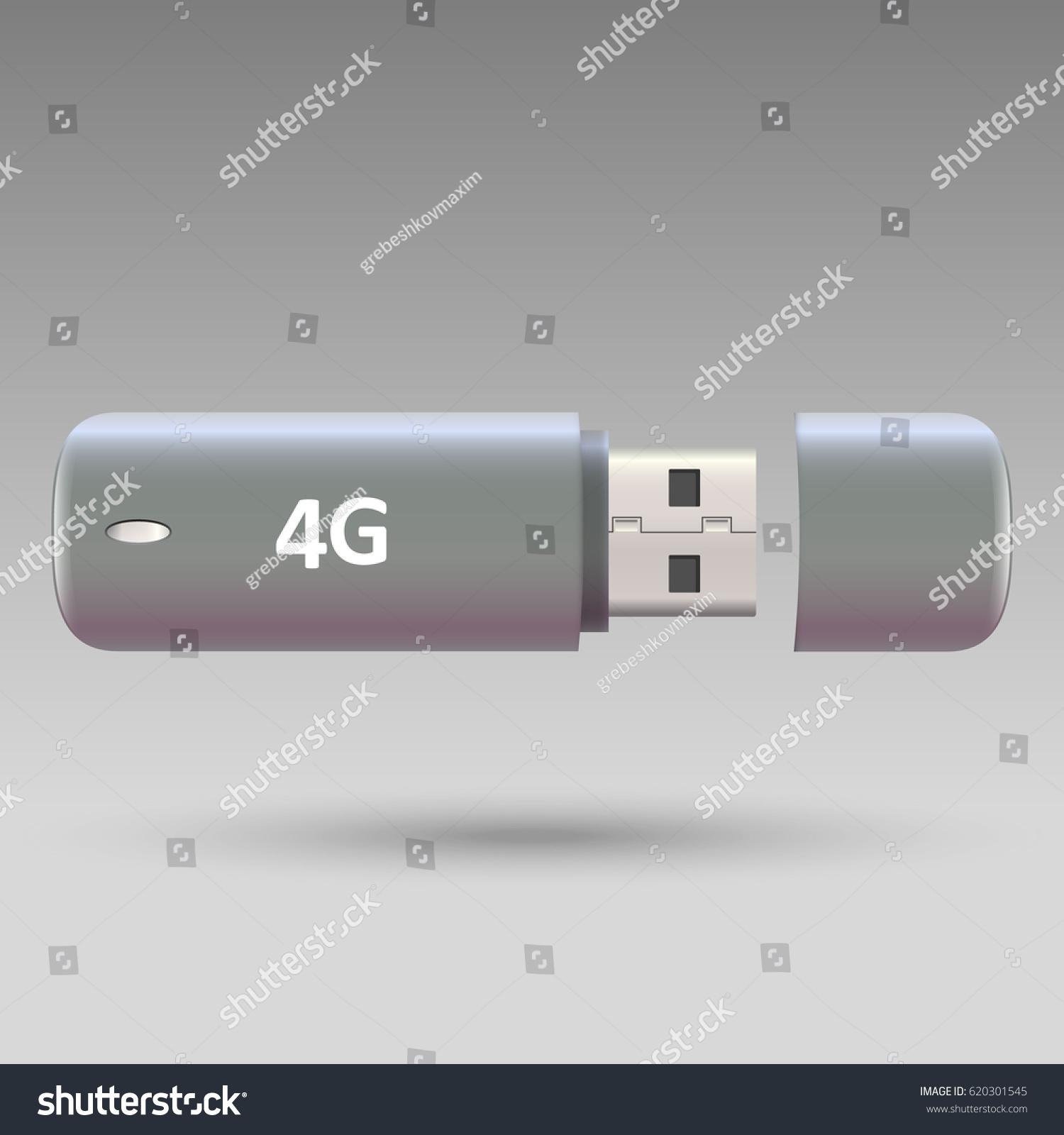 Usb Wireless Modem 4 G Portable Internet Stock Vector Royalty Free 4g Modemvector Illustration
