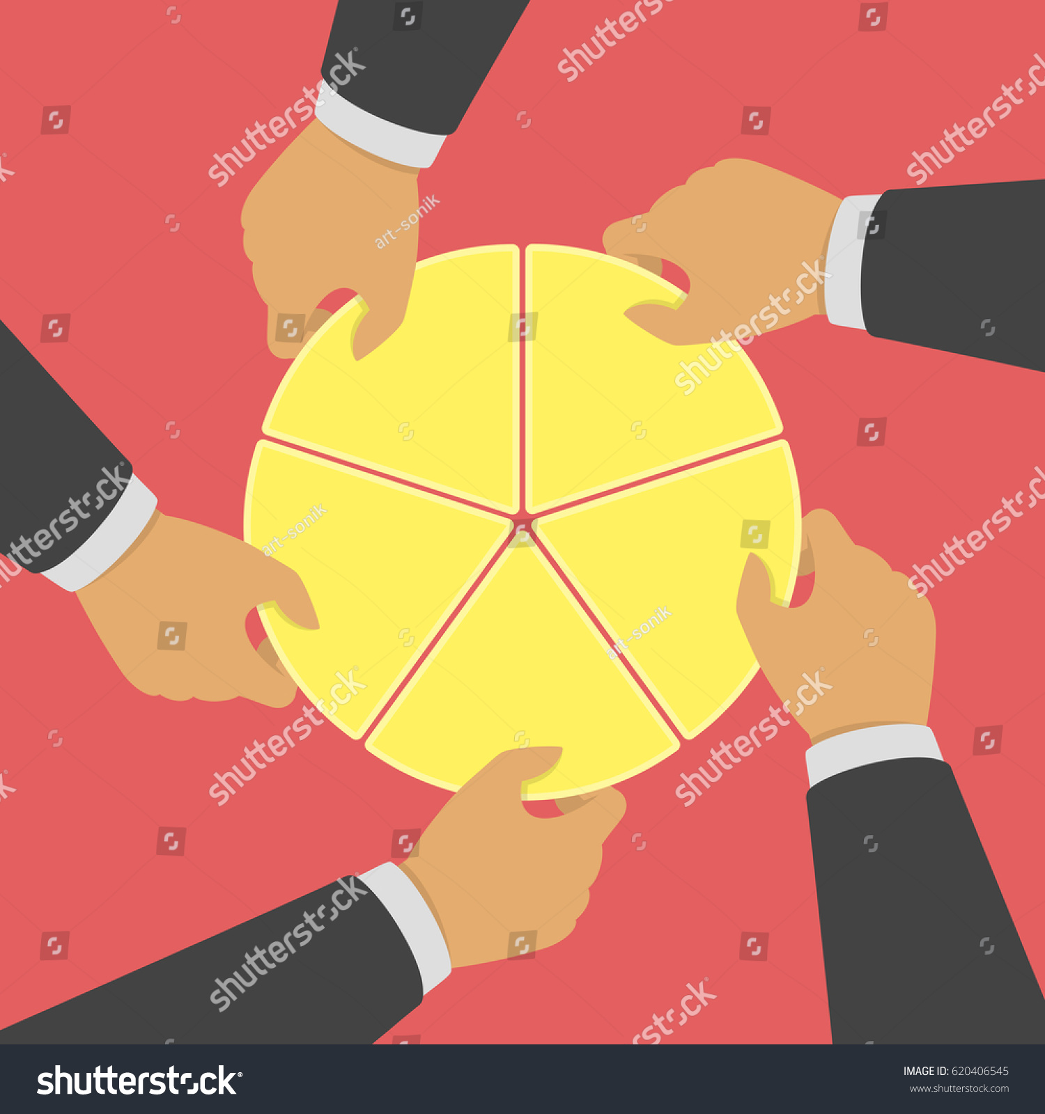 Hands picking pie chart parts financial stock vector 620406545 hands picking pie chart parts financial competing or market share business concepts competing nvjuhfo Gallery