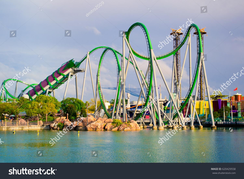 Map Of Universal Studios Florida.Orlando April 3 Roller Coaster Park Stock Photo Edit Now 620429558
