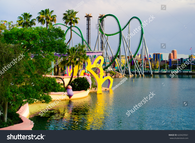 Map Of Universal Studios Florida.Orlando April 3 Roller Coaster Park Stock Photo Edit Now 620429561